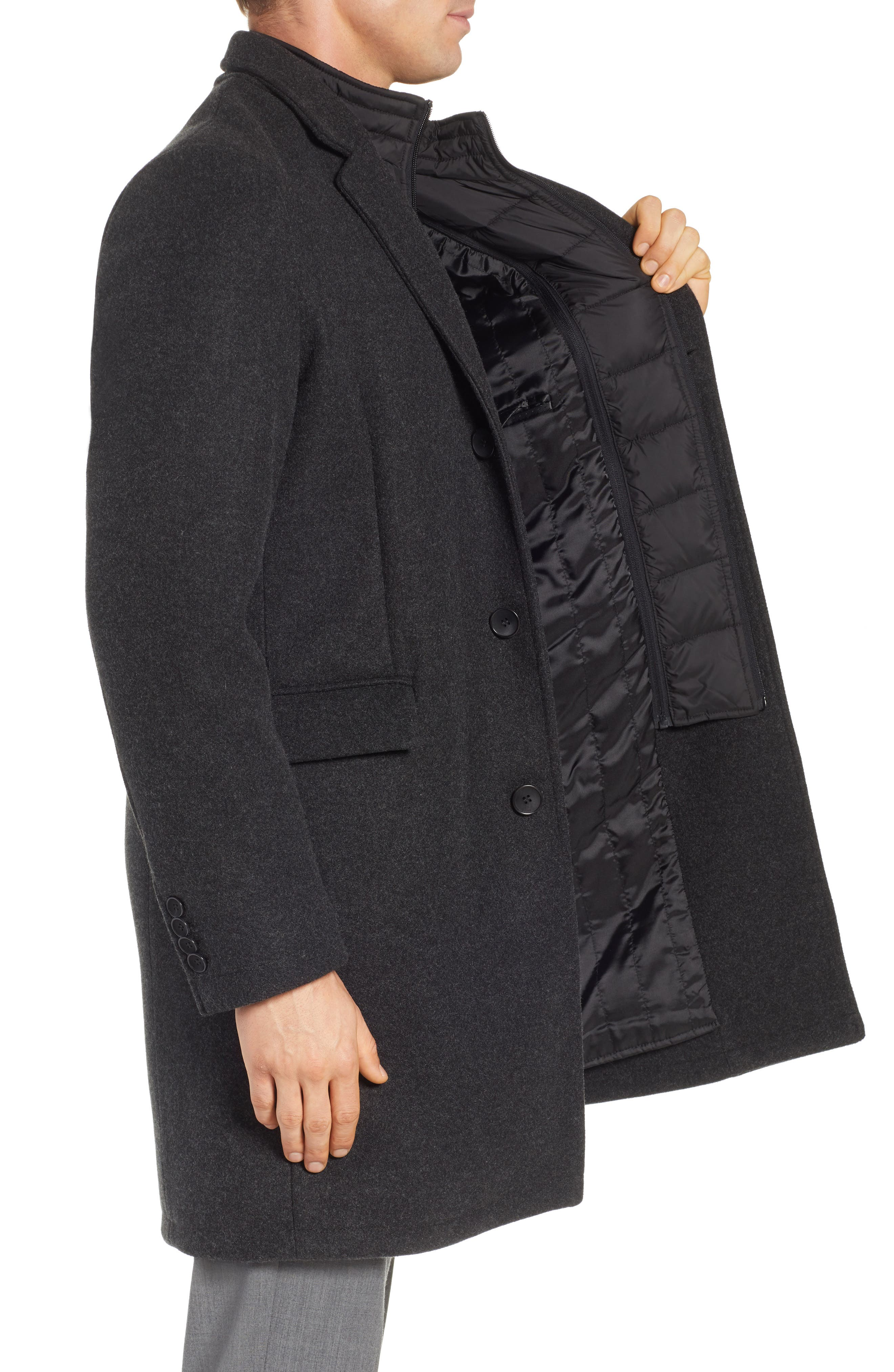 Westcott Wool Car Coat,                             Alternate thumbnail 3, color,                             001