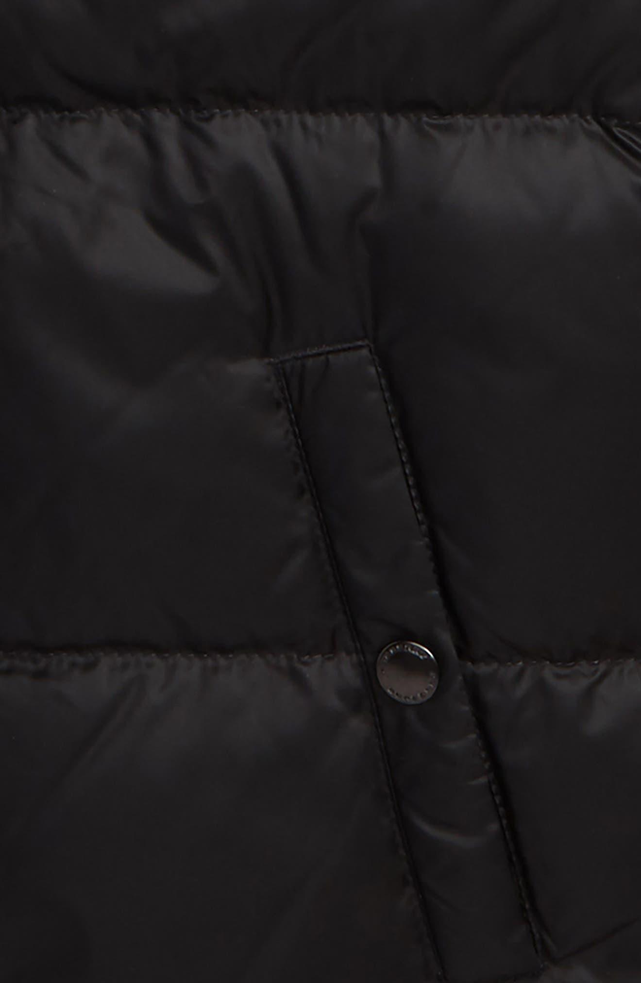 Mini Carlton Quilted Down Vest,                             Alternate thumbnail 2, color,                             001
