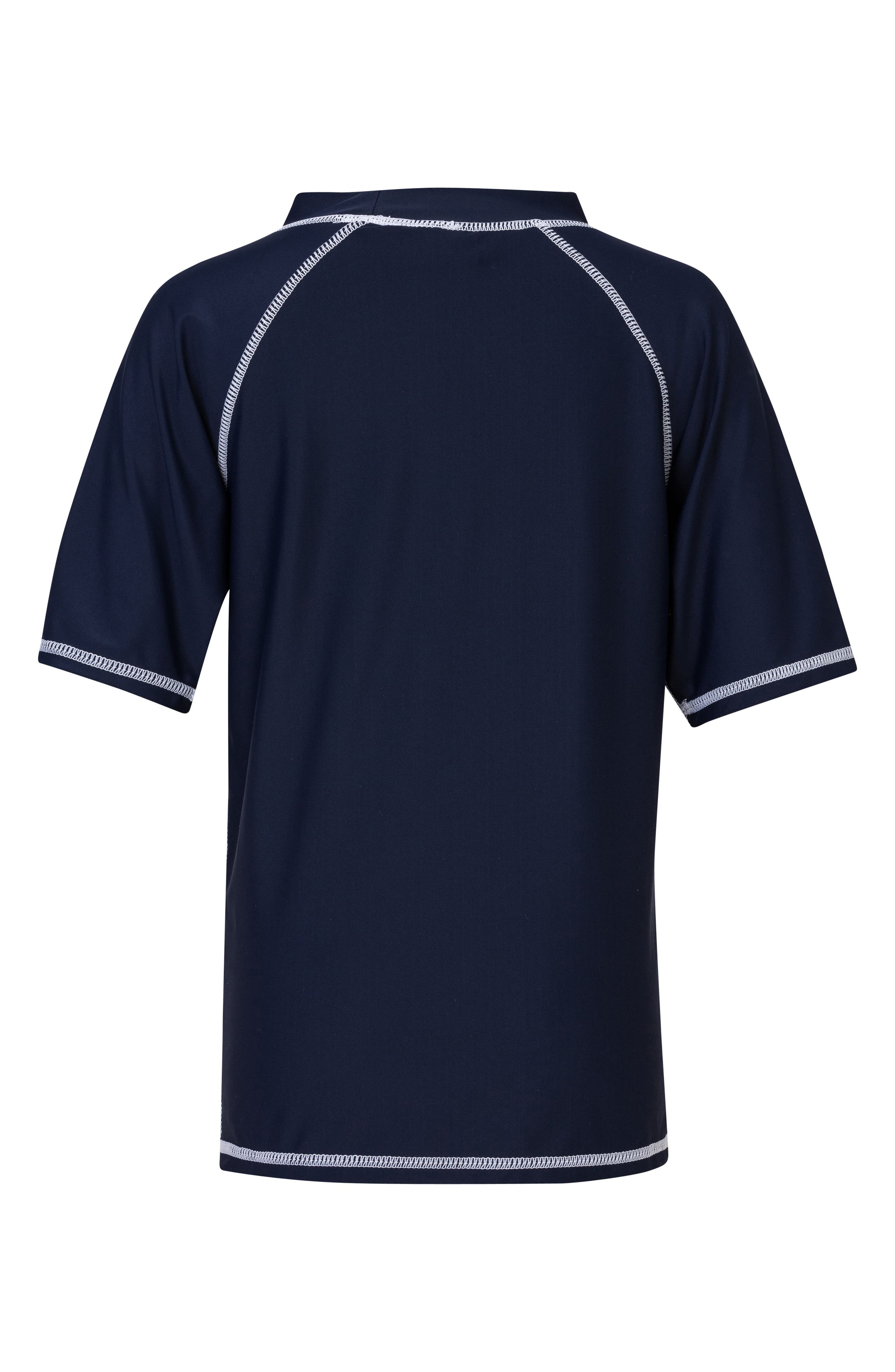 Raglan Short Sleeve Rashguard,                             Alternate thumbnail 2, color,                             NAVY