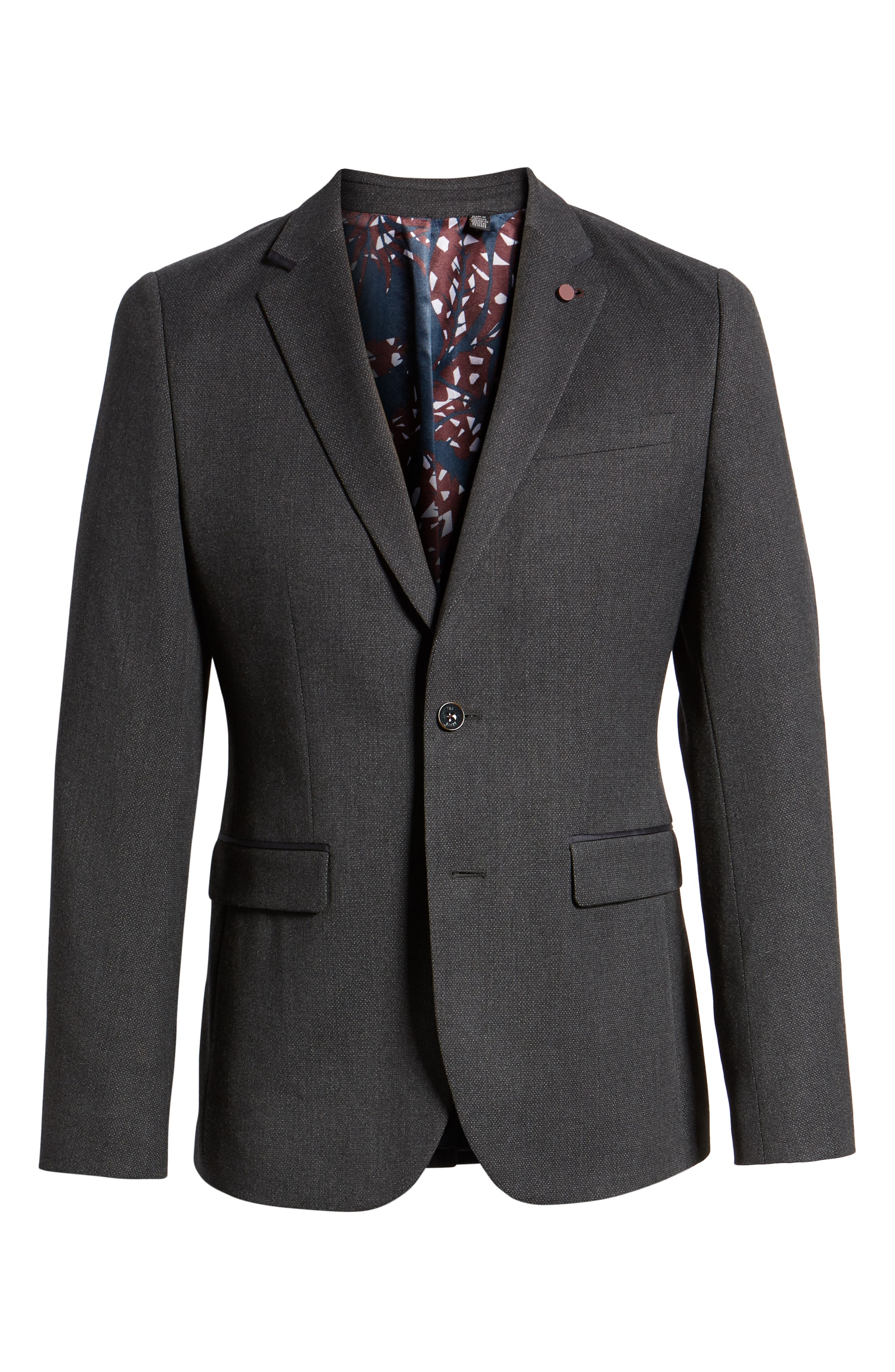 Hazlnut Trim Fit Sport Coat,                             Alternate thumbnail 5, color,                             020