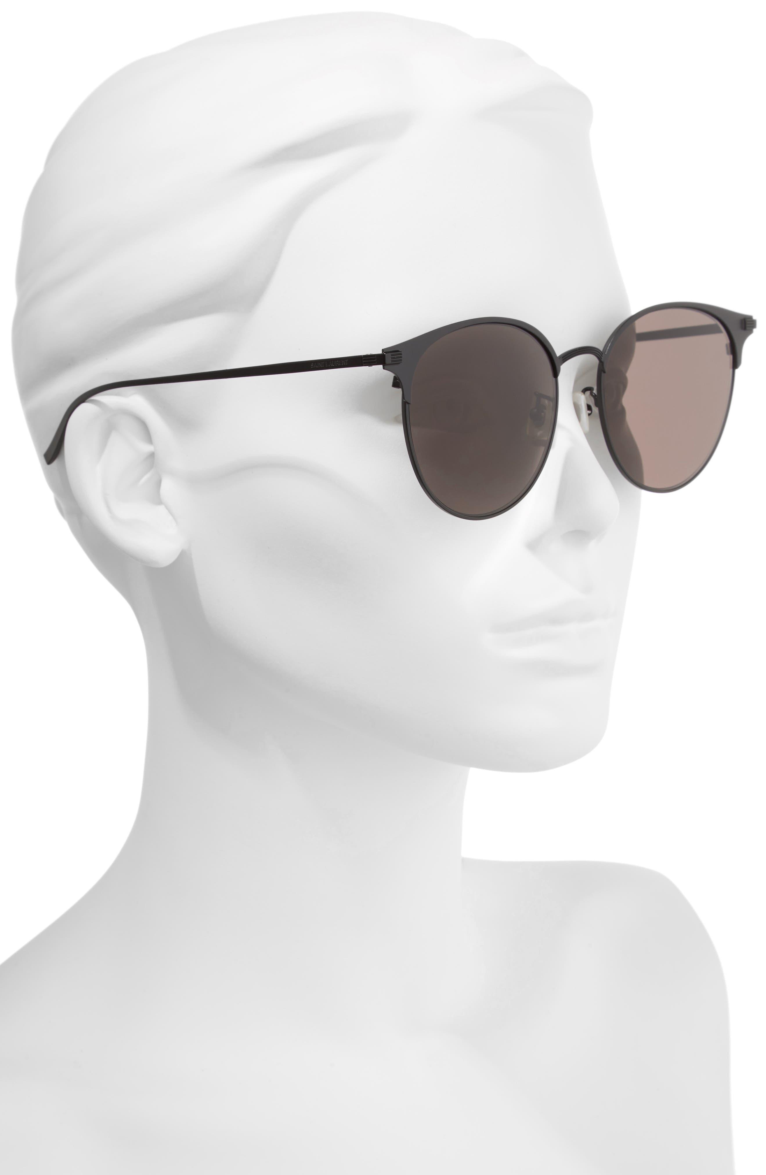 57mm Sunglasses,                             Alternate thumbnail 2, color,                             BLACK