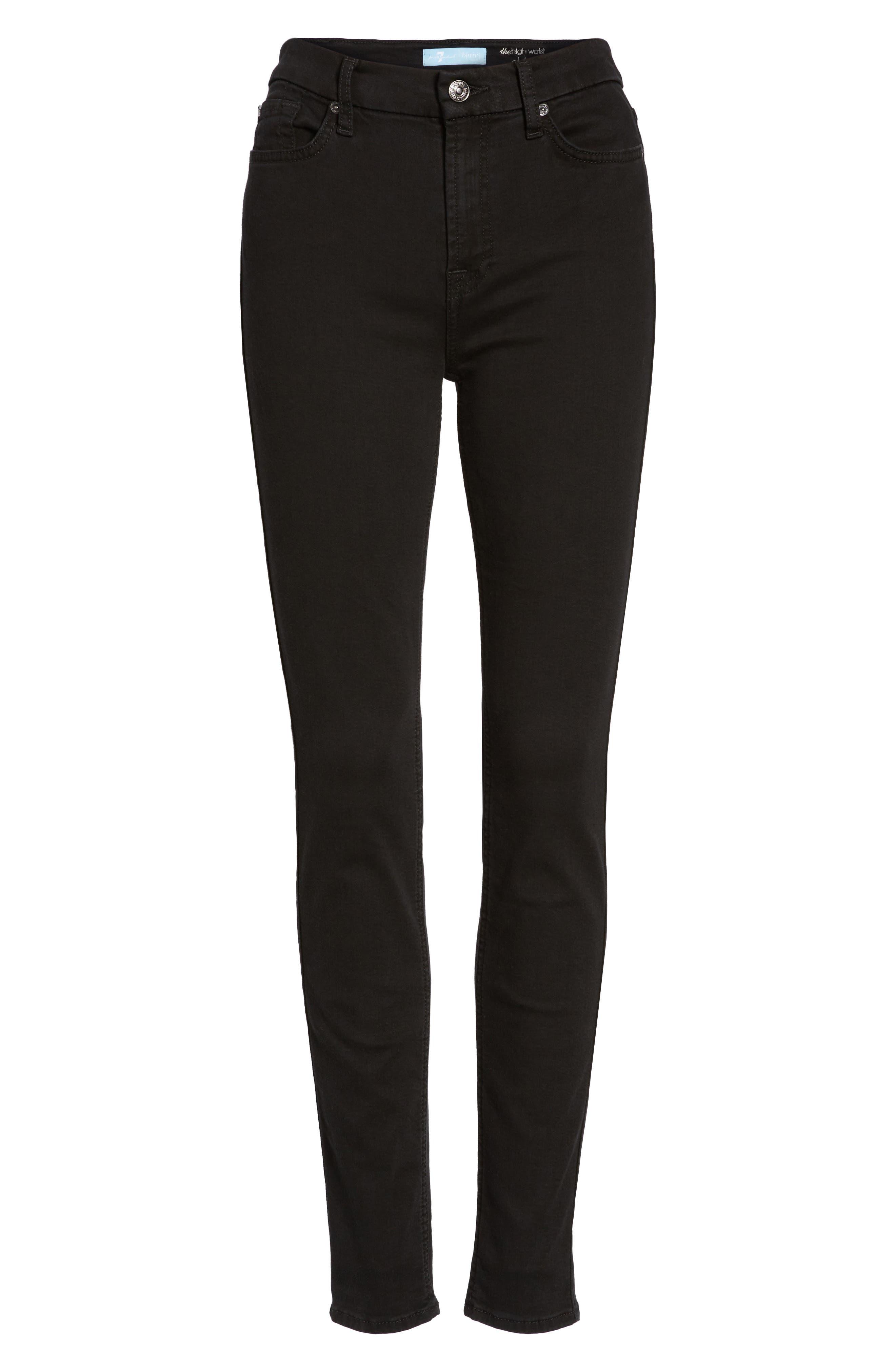 b(air) High Waist Skinny Jeans,                             Alternate thumbnail 7, color,                             B(AIR) BLACK