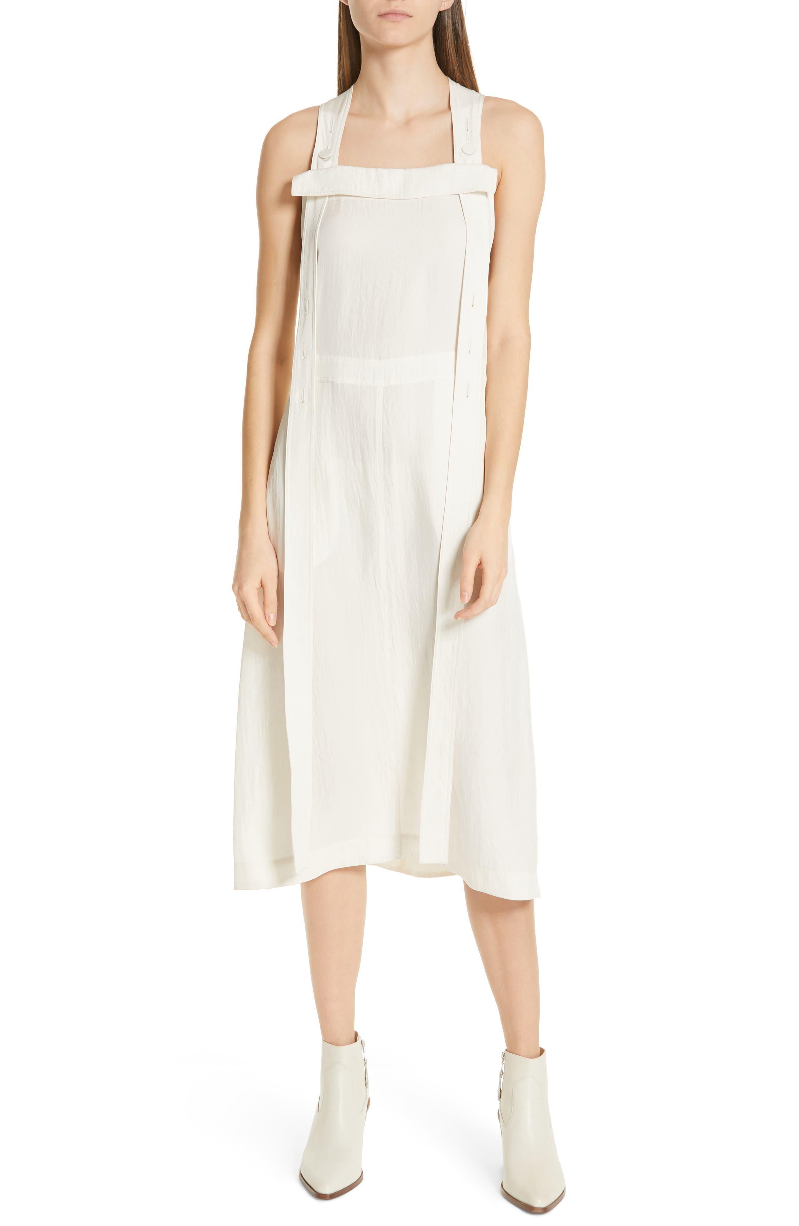 Rag & Bone Adrian Pinafore Dress, White