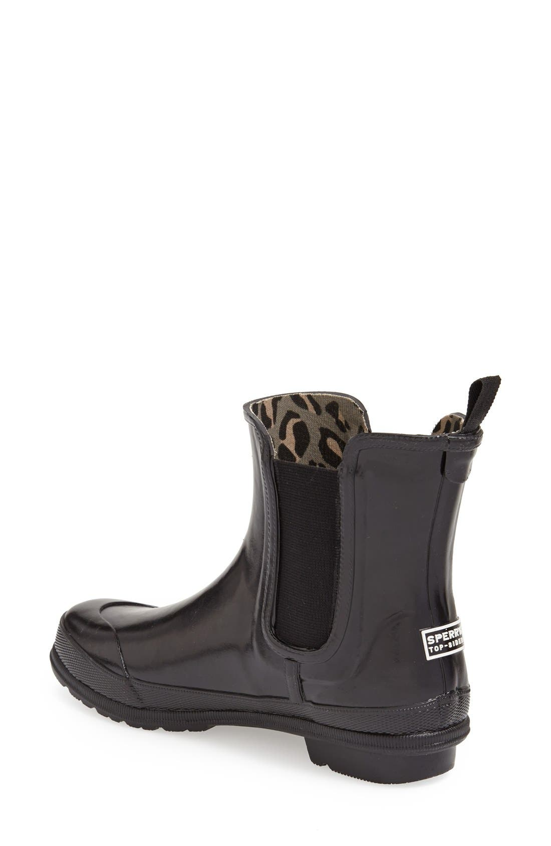 Top-Sider<sup>®</sup> 'Starling' Rubber Rain Boot,                             Alternate thumbnail 2, color,                             001