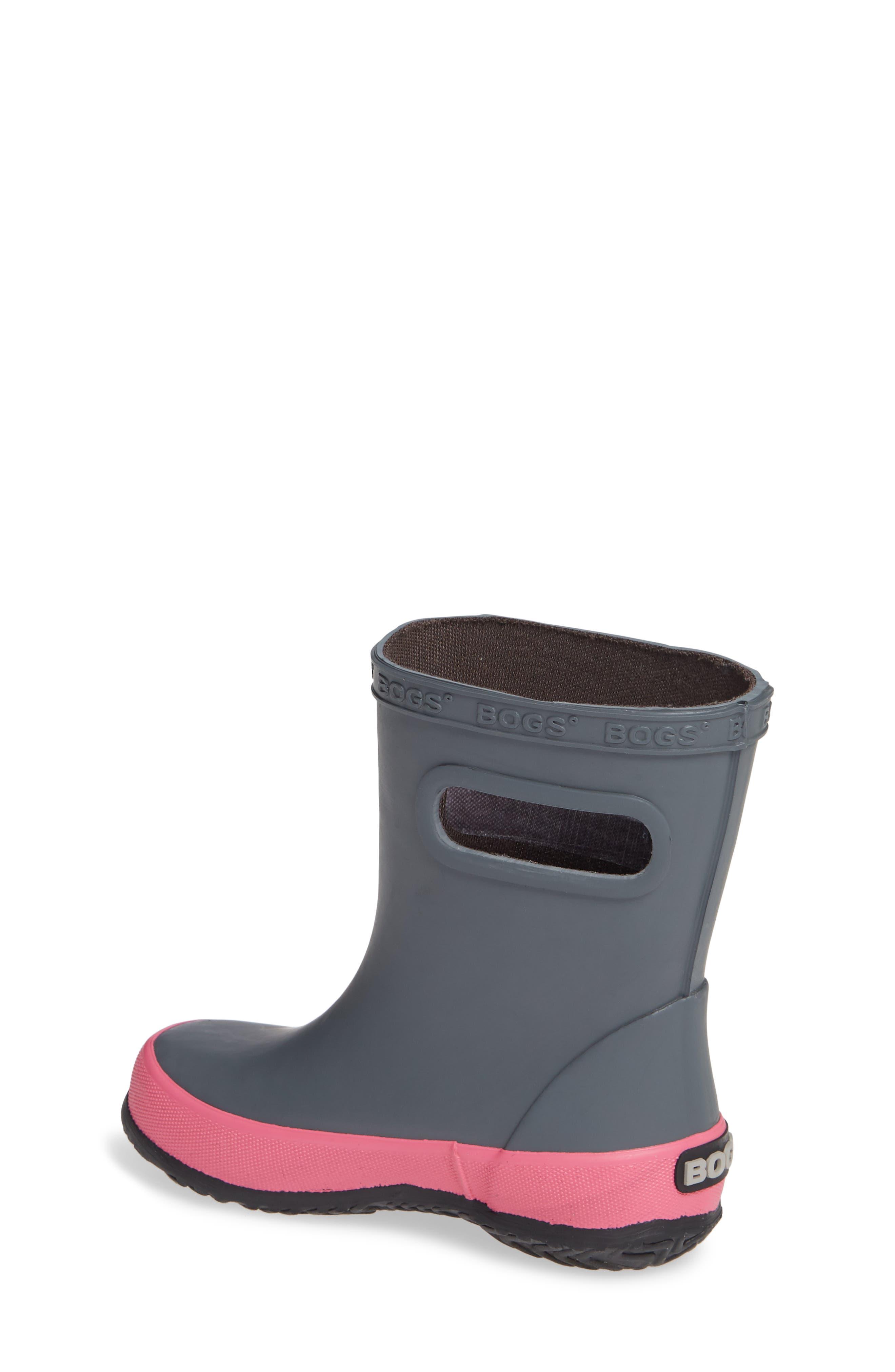 Skipper Solid Rubber Rain Boot,                             Alternate thumbnail 2, color,                             DARK GRAY