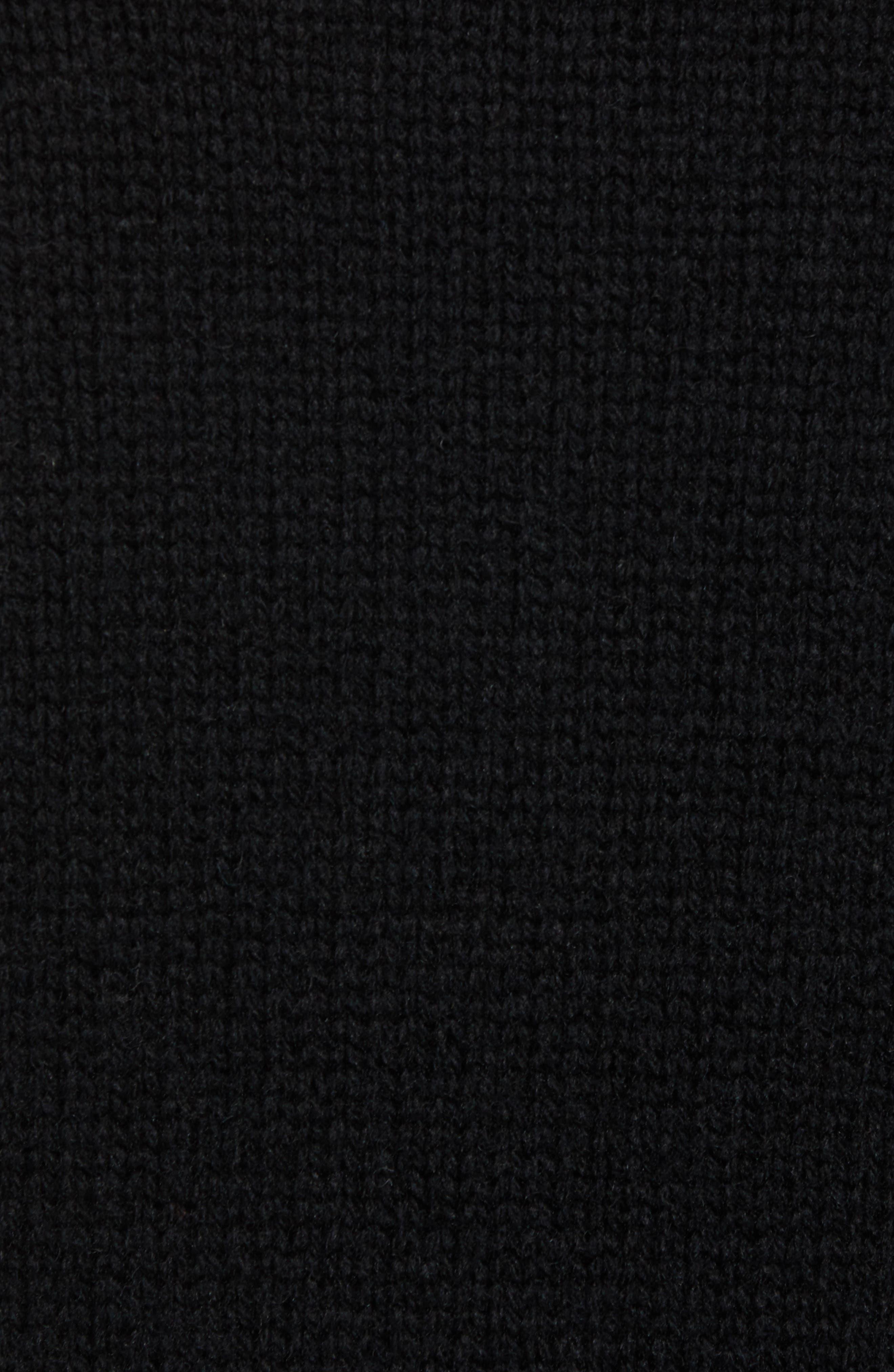 Star Wool Sweater,                             Alternate thumbnail 5, color,                             BLACK WHITECAP GREY