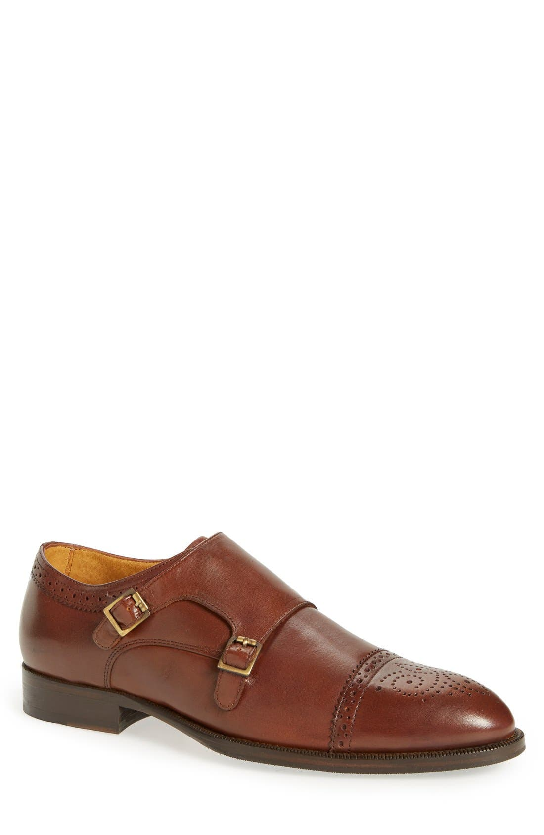 'Briant' Double Monk Strap Shoe,                             Main thumbnail 3, color,