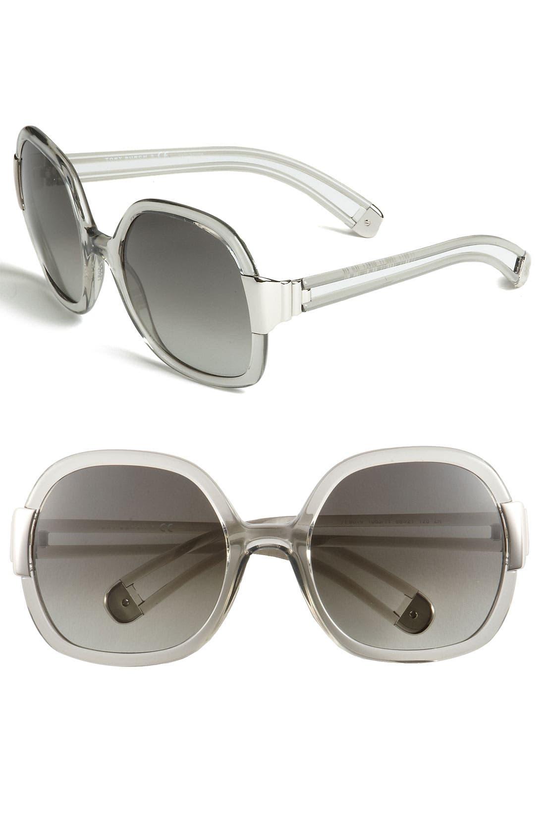 56mm Oversized Sunglasses,                         Main,                         color, 020