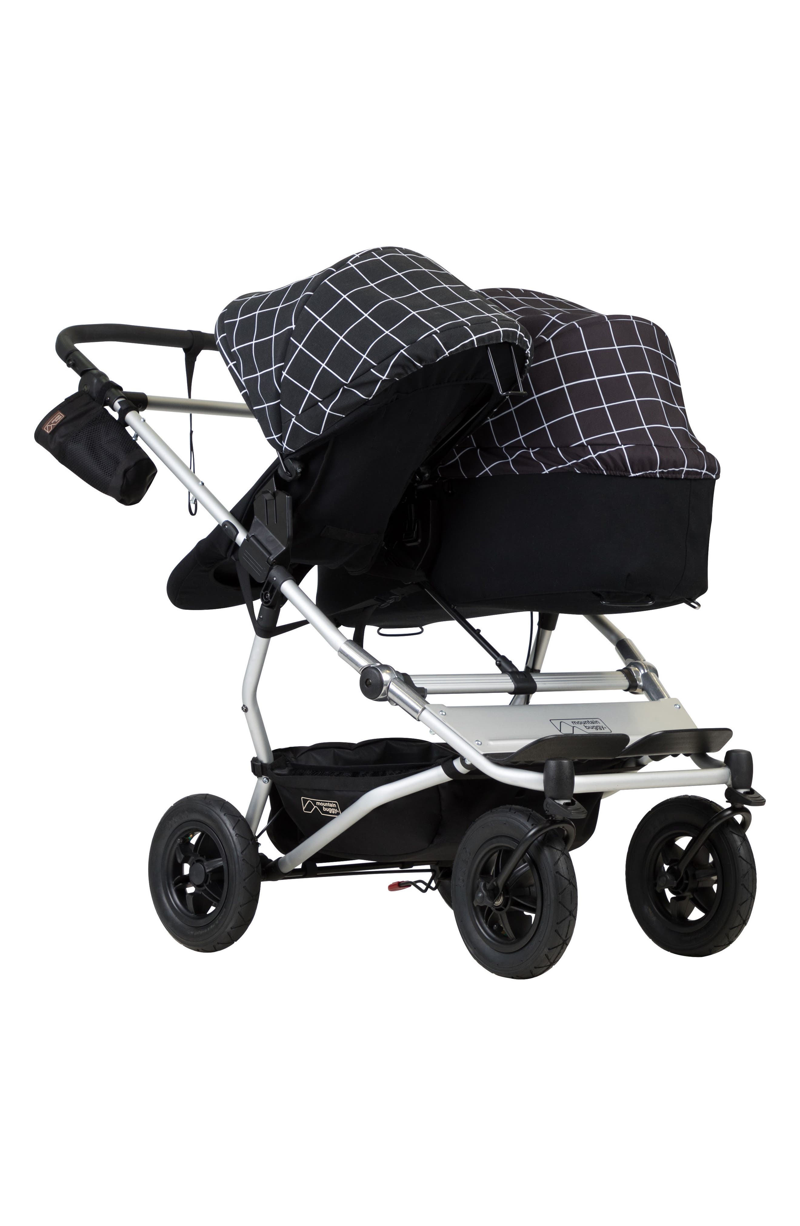 2017 Carrycot Base & Fabric Set for Duet Stroller,                             Alternate thumbnail 4, color,                             GRID