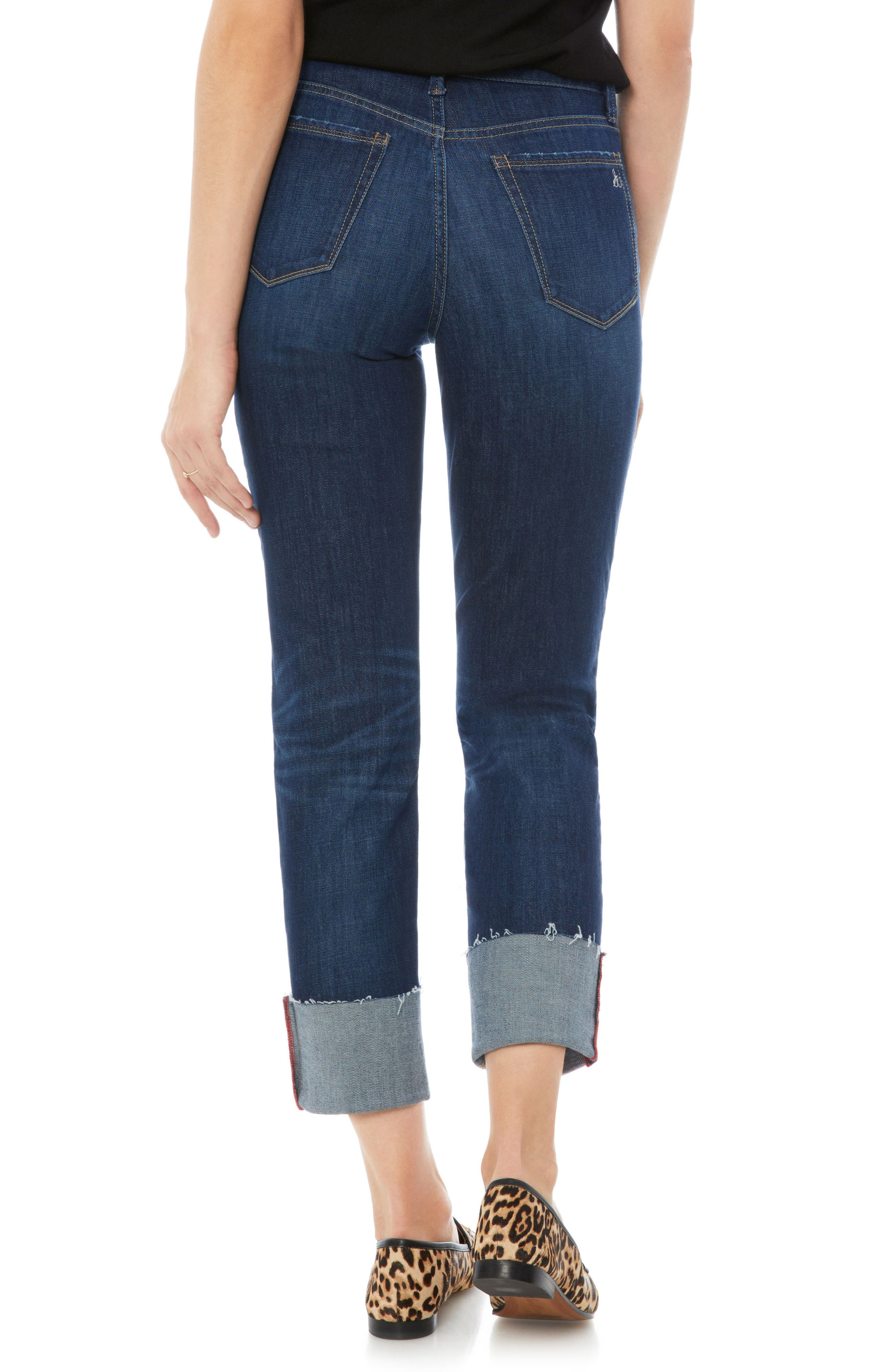 The Mary Jane Oversize Cuff Jeans,                             Alternate thumbnail 2, color,                             400