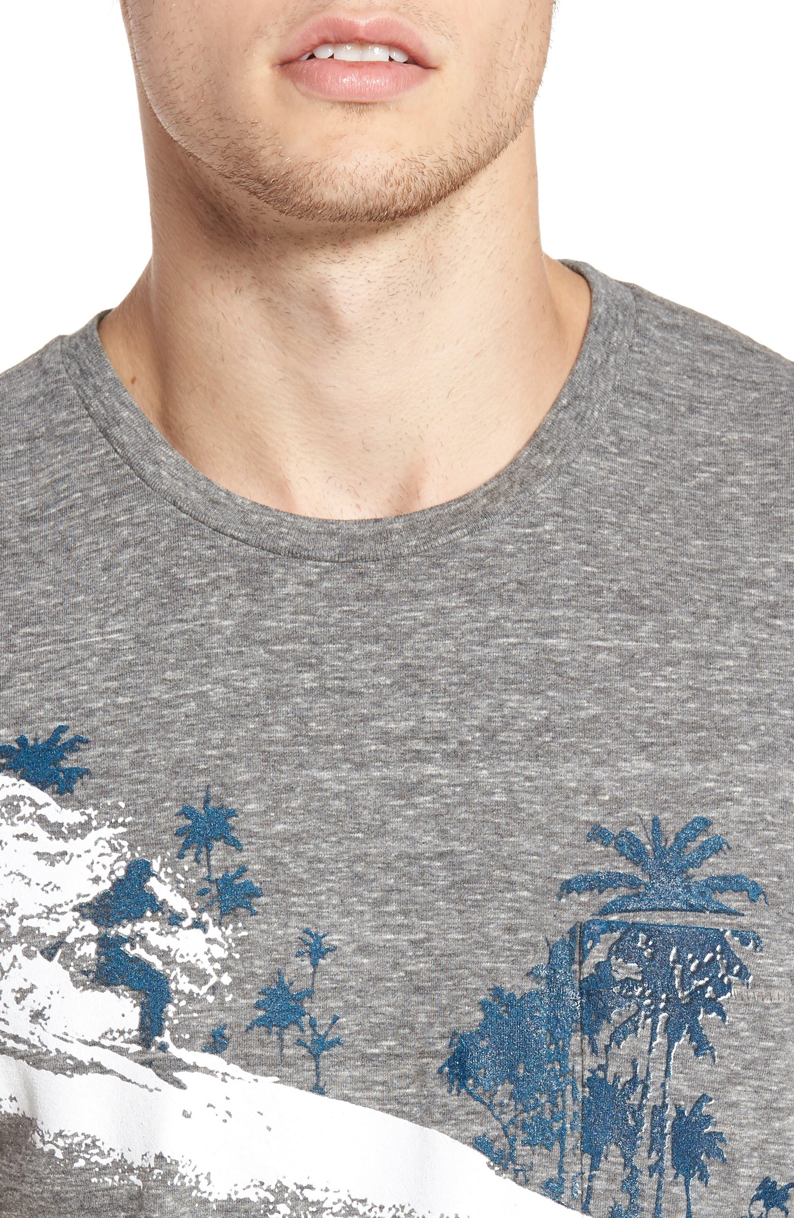 Palm Diamonds Pocket T-Shirt,                             Alternate thumbnail 4, color,