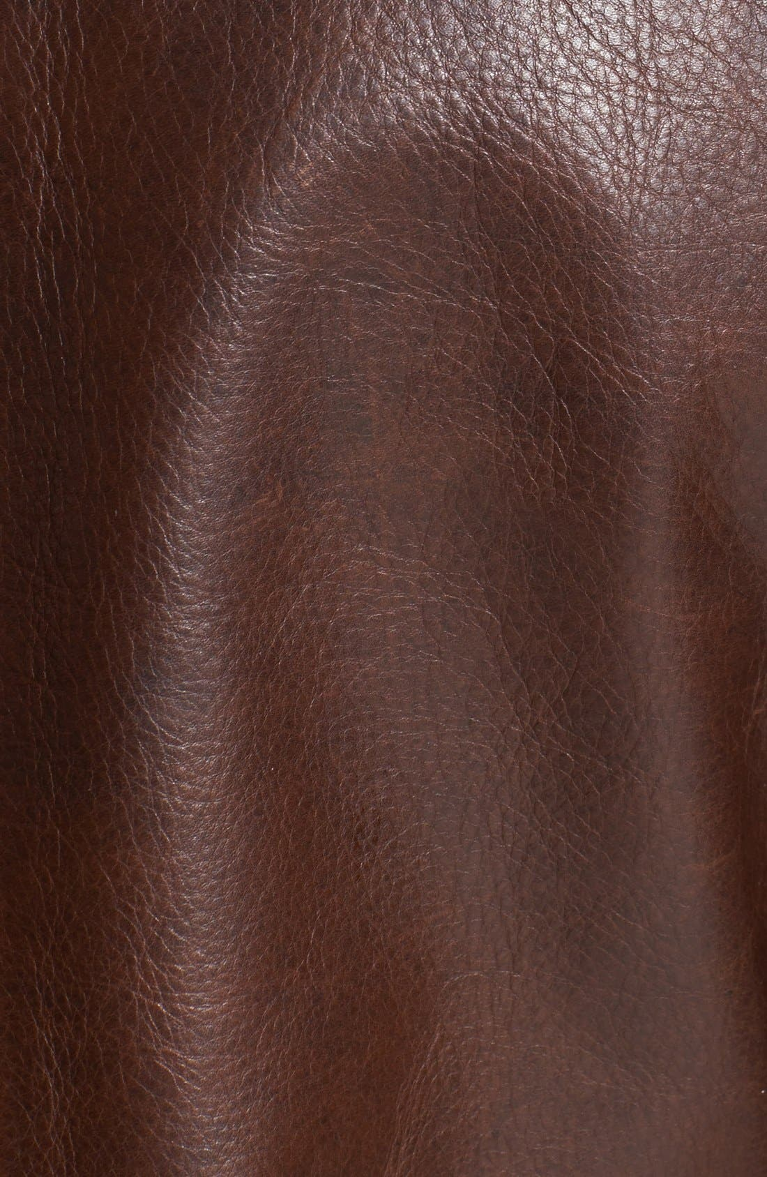 BILLY REID,                             Leather Peacoat with Genuine Shearling Collar,                             Alternate thumbnail 3, color,                             200