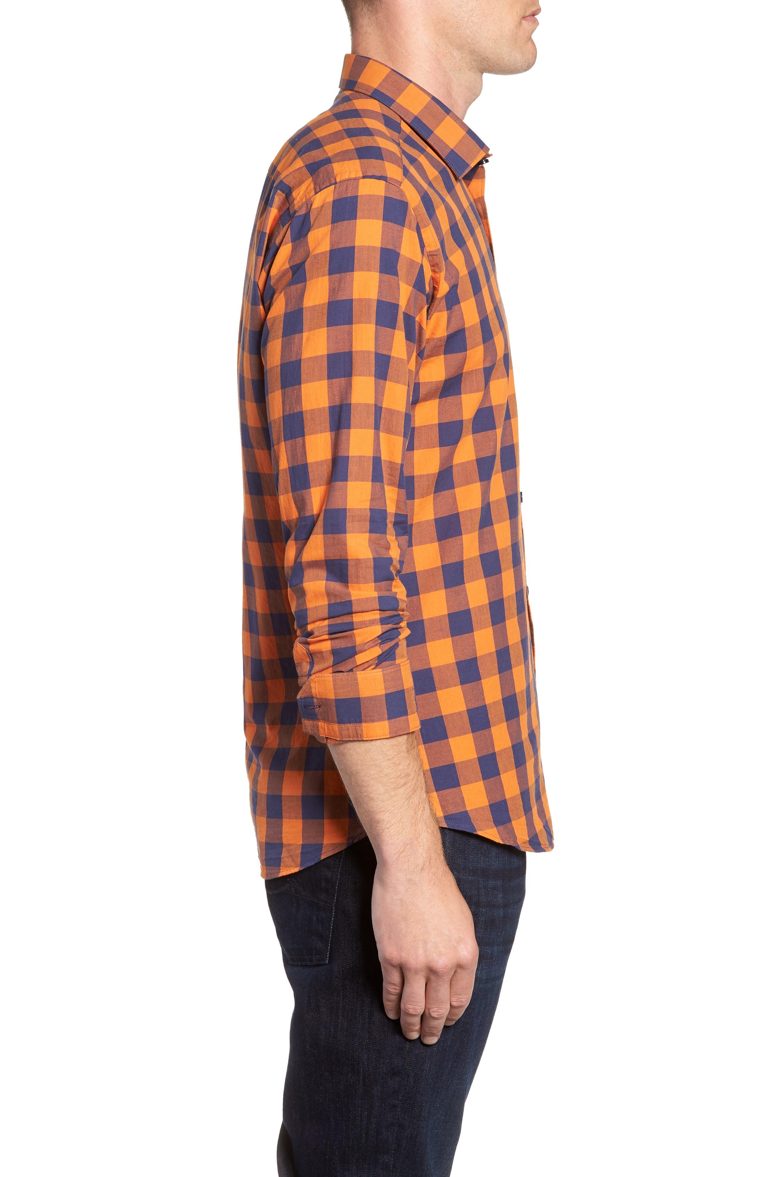 Trim Fit Sport Shirt,                             Alternate thumbnail 4, color,