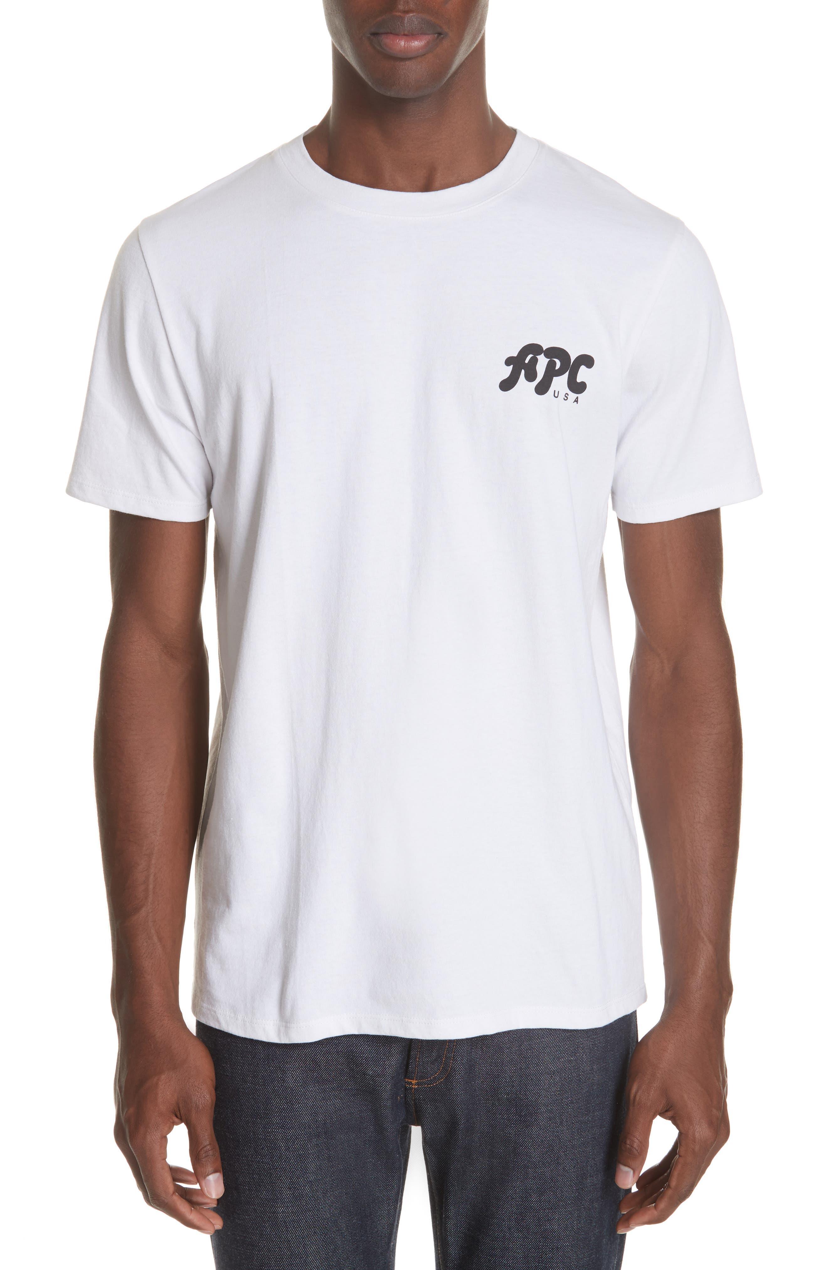 New Logo Graphic T-Shirt,                             Main thumbnail 1, color,                             AAB BLANC