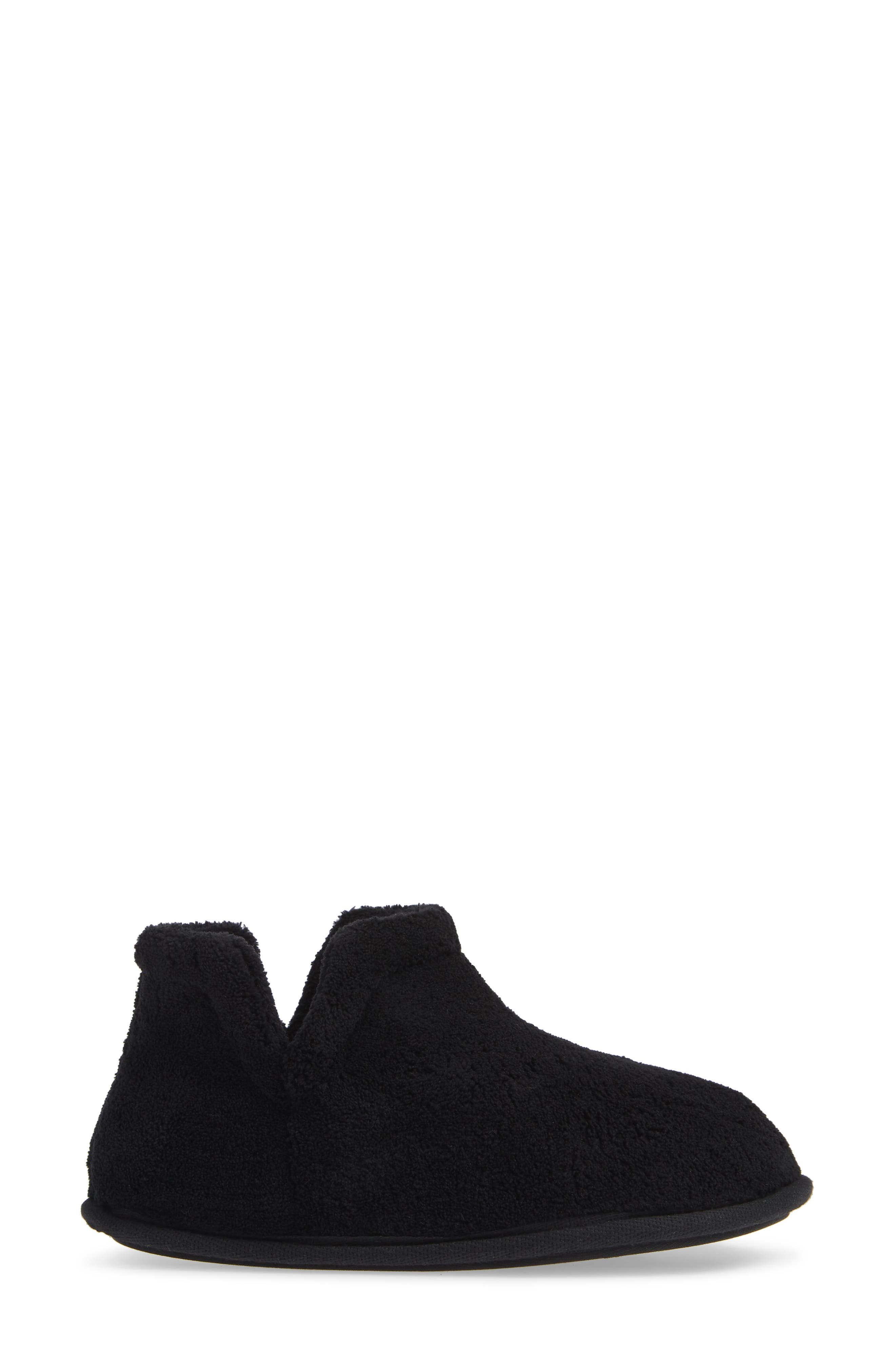 Evalyn Slipper Bootie,                             Alternate thumbnail 3, color,                             BLACK FABRIC