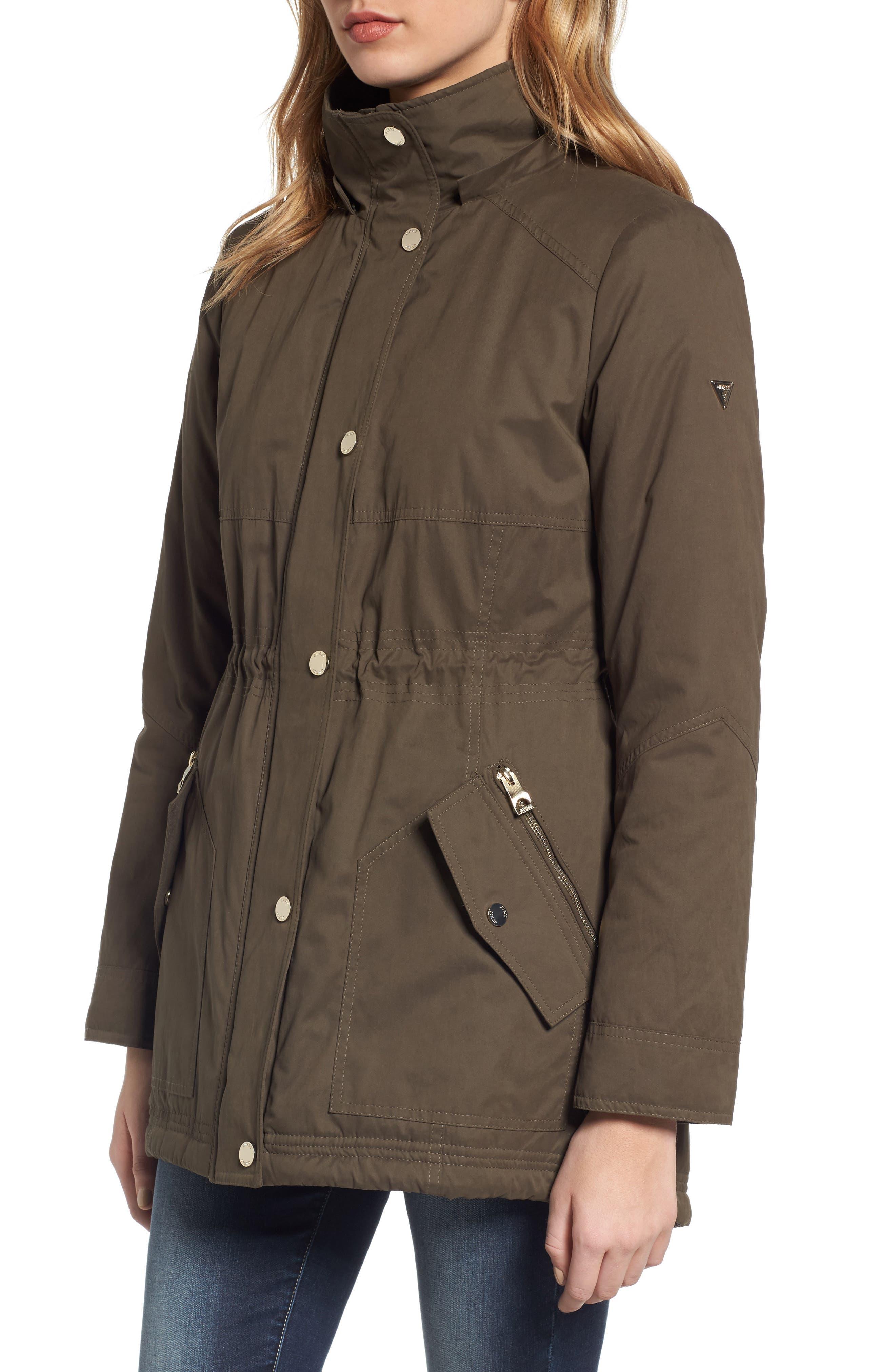Parka with Removable Faux Fur Trim Hood,                             Alternate thumbnail 4, color,                             385