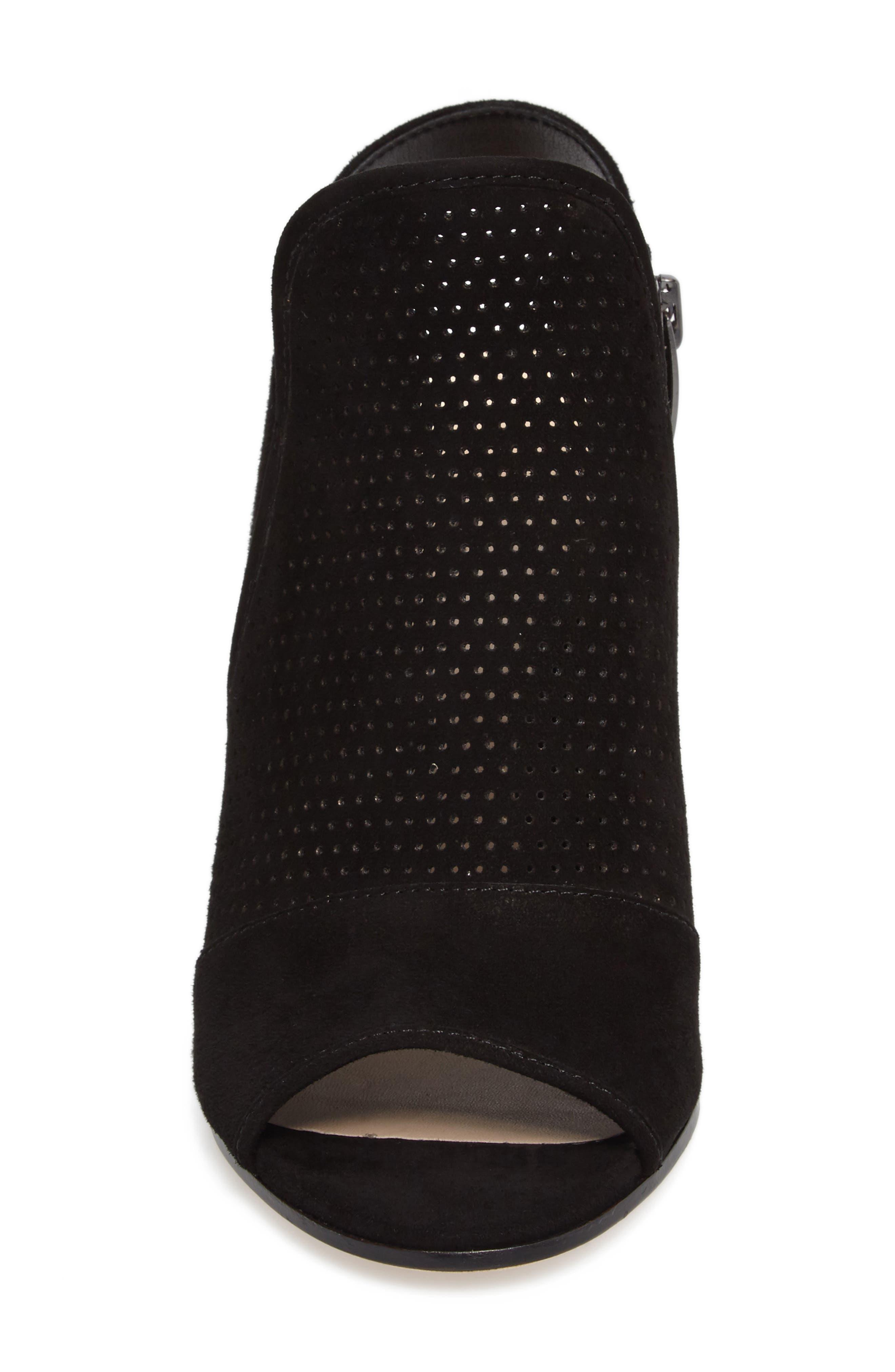 Gaze Block Heel Sandal,                             Alternate thumbnail 4, color,                             001