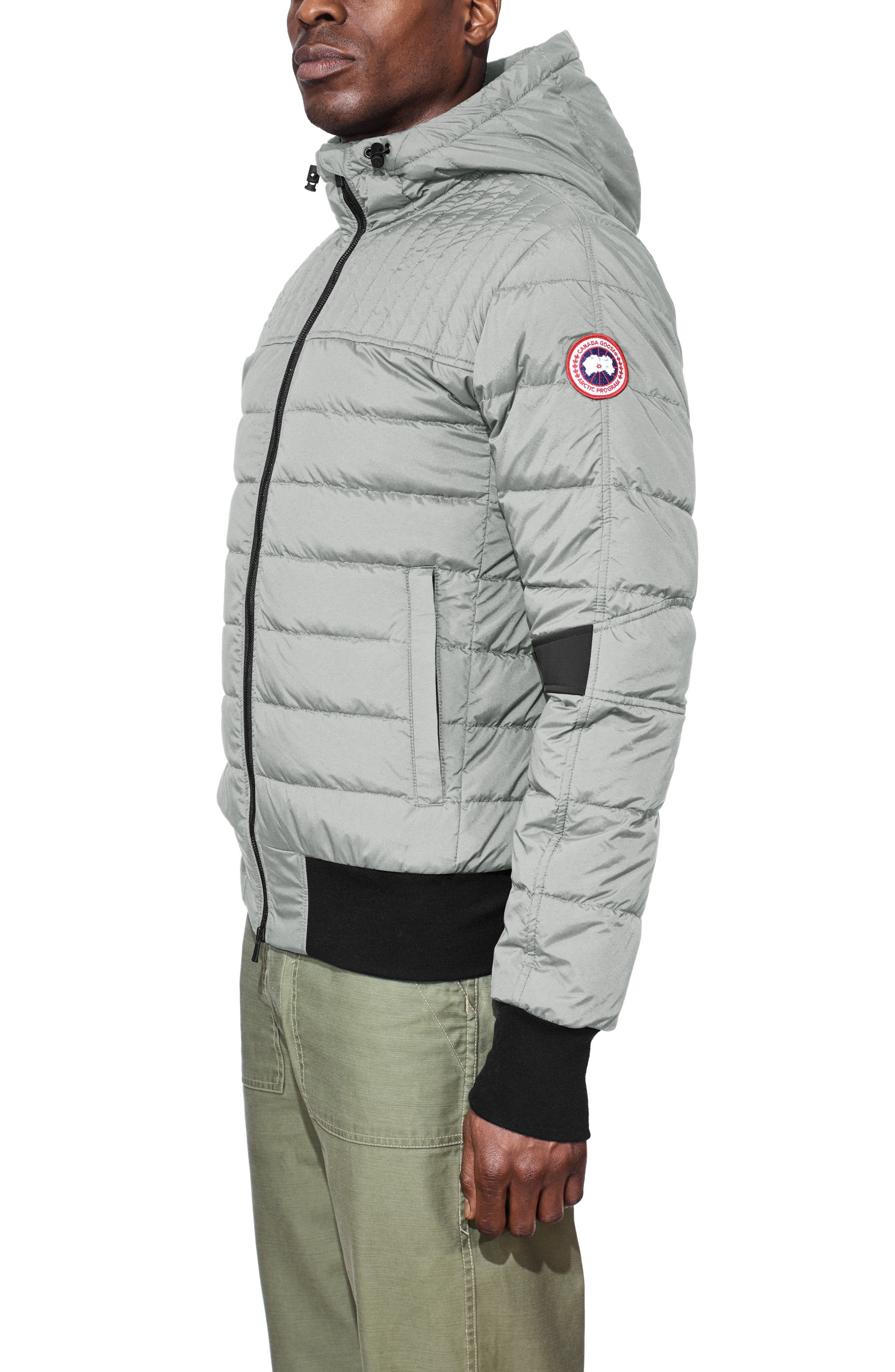 CANADA GOOSE,                             Cabri Hooded Slim Fit Down Jacket,                             Alternate thumbnail 3, color,                             031