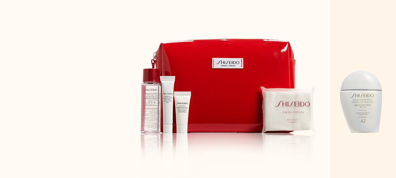 Shiseido gifts with purchase.