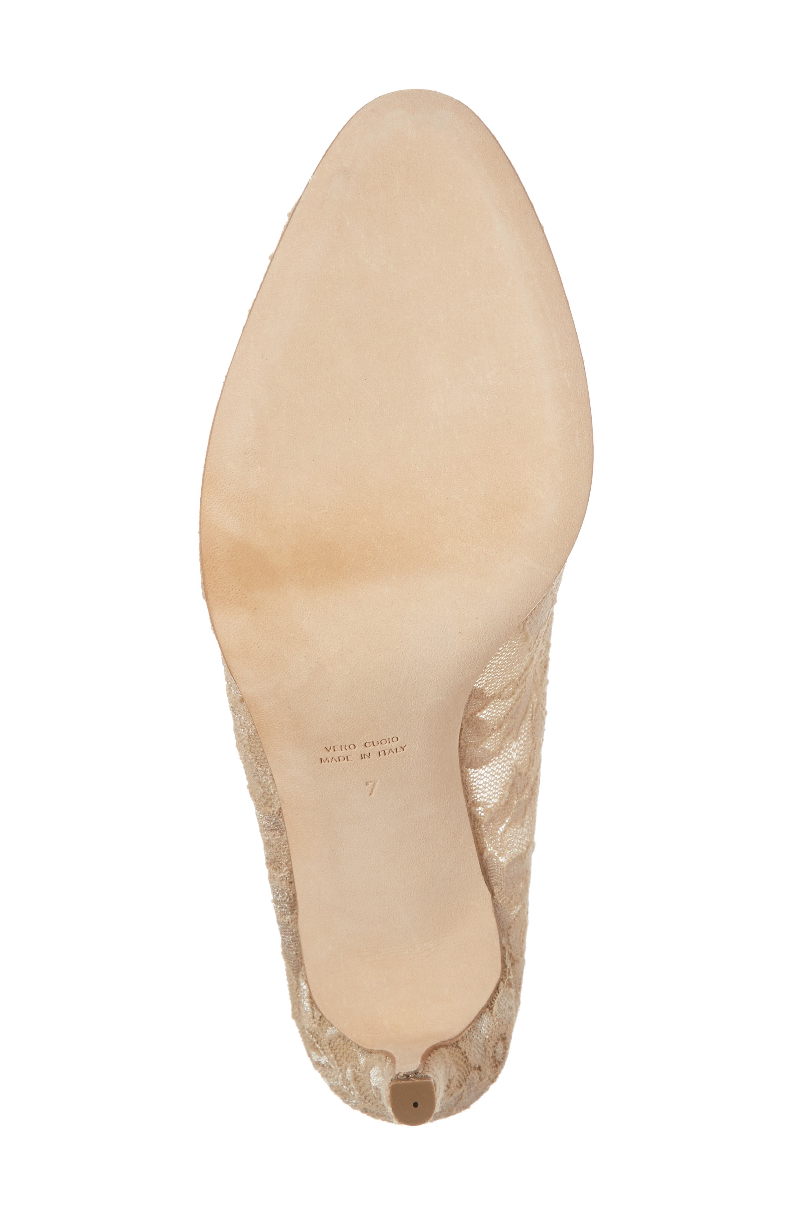 Valerie Embellished Pump,                             Alternate thumbnail 6, color,                             TAUPE LACE
