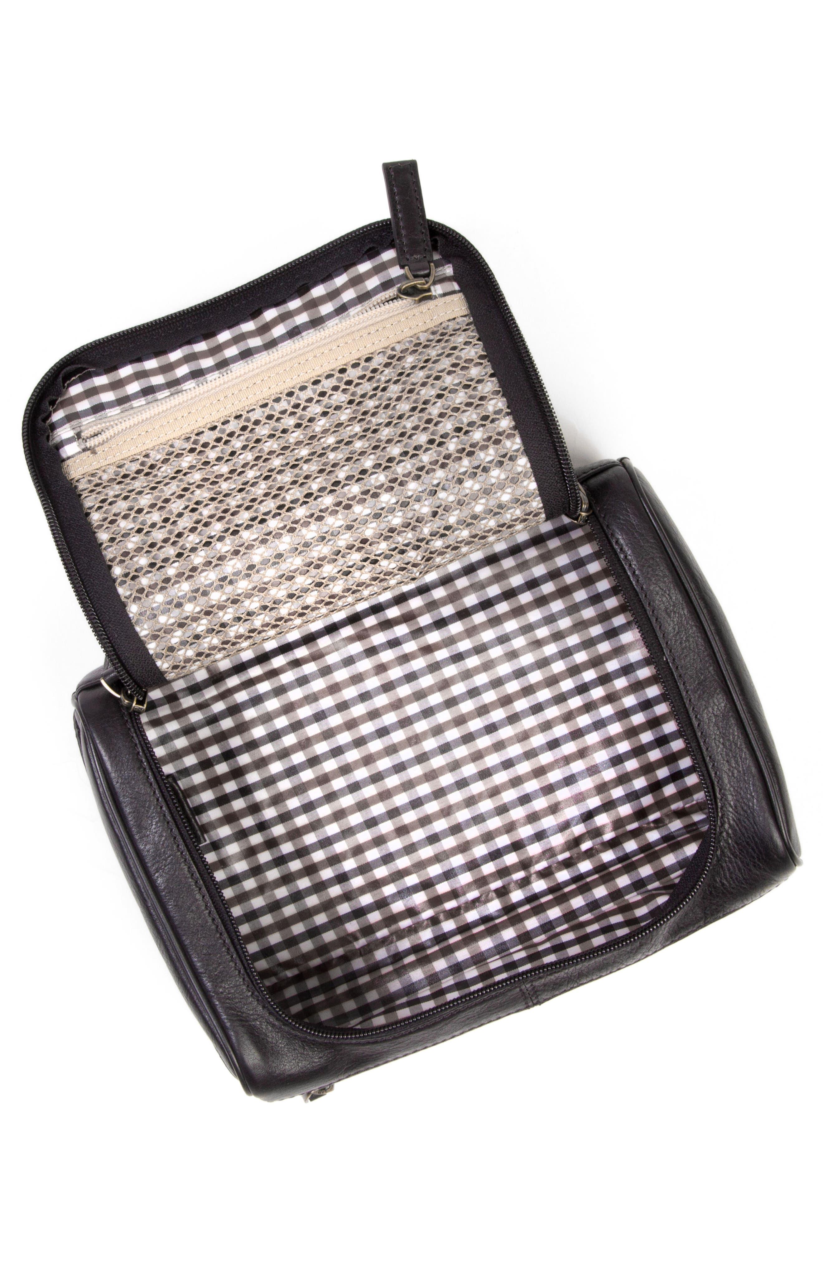 Becker Leather Travel Kit,                             Alternate thumbnail 2, color,                             BLACK