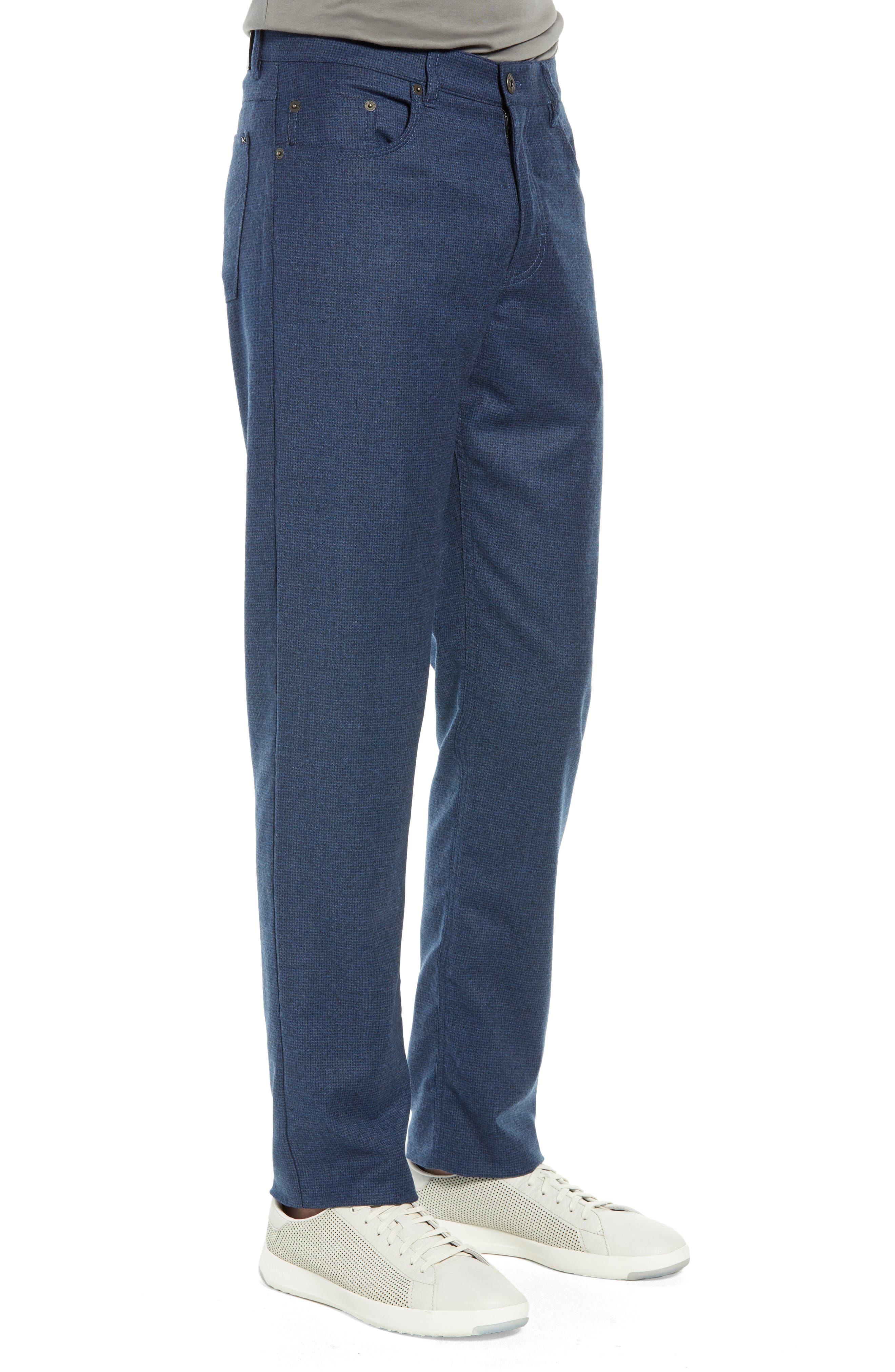 Cadiz Five-Pocket Stretch Wool Trousers,                             Alternate thumbnail 3, color,                             MIDNIGHT