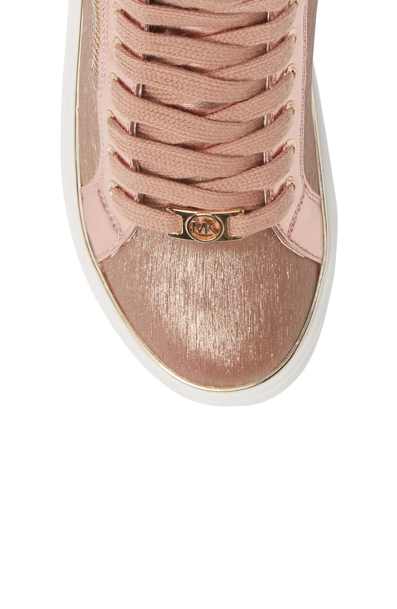 High Top Sneaker,                             Alternate thumbnail 5, color,                             ROSE GOLD