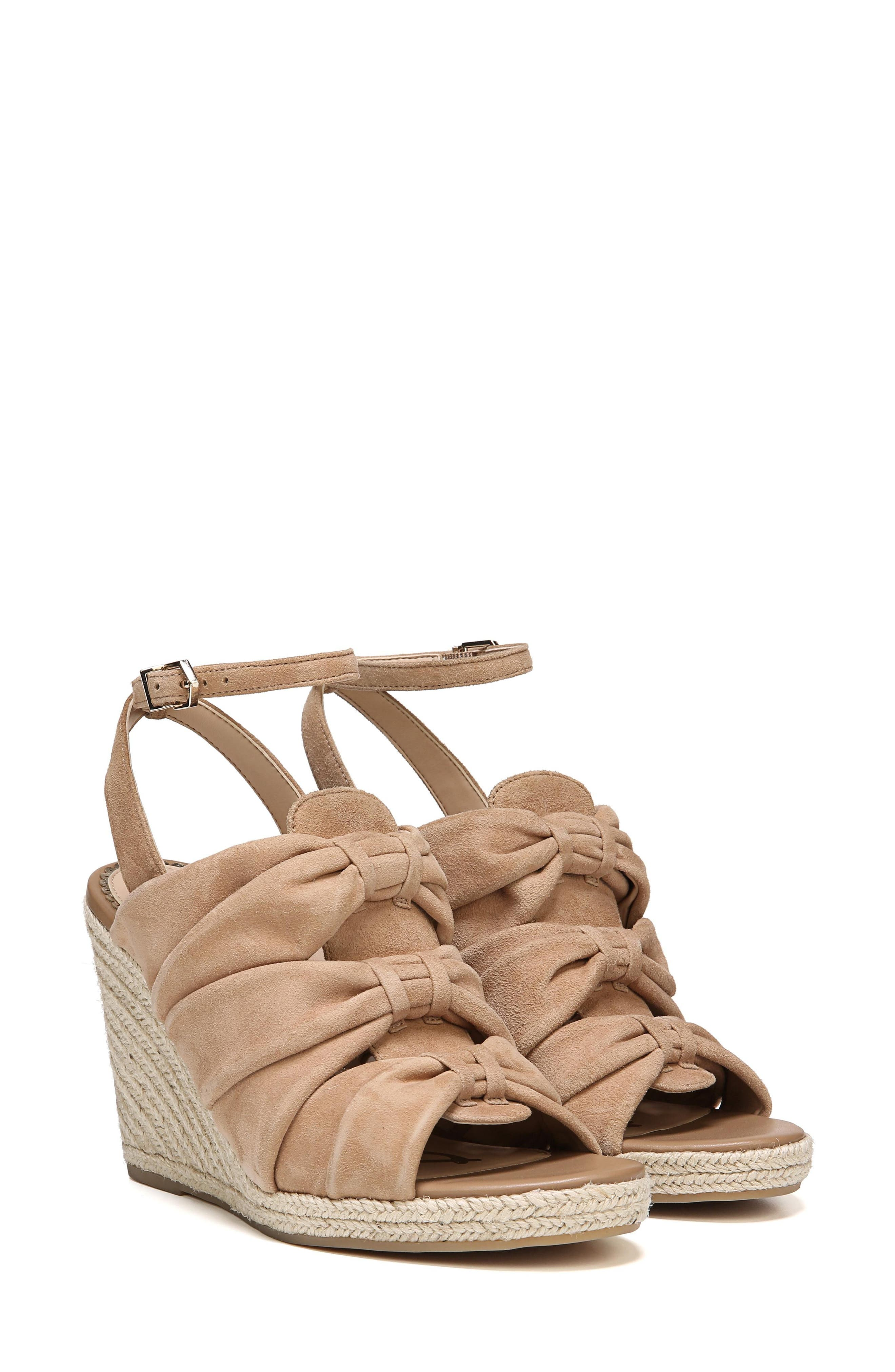 Awan Cinched Wedge Sandal,                             Alternate thumbnail 14, color,