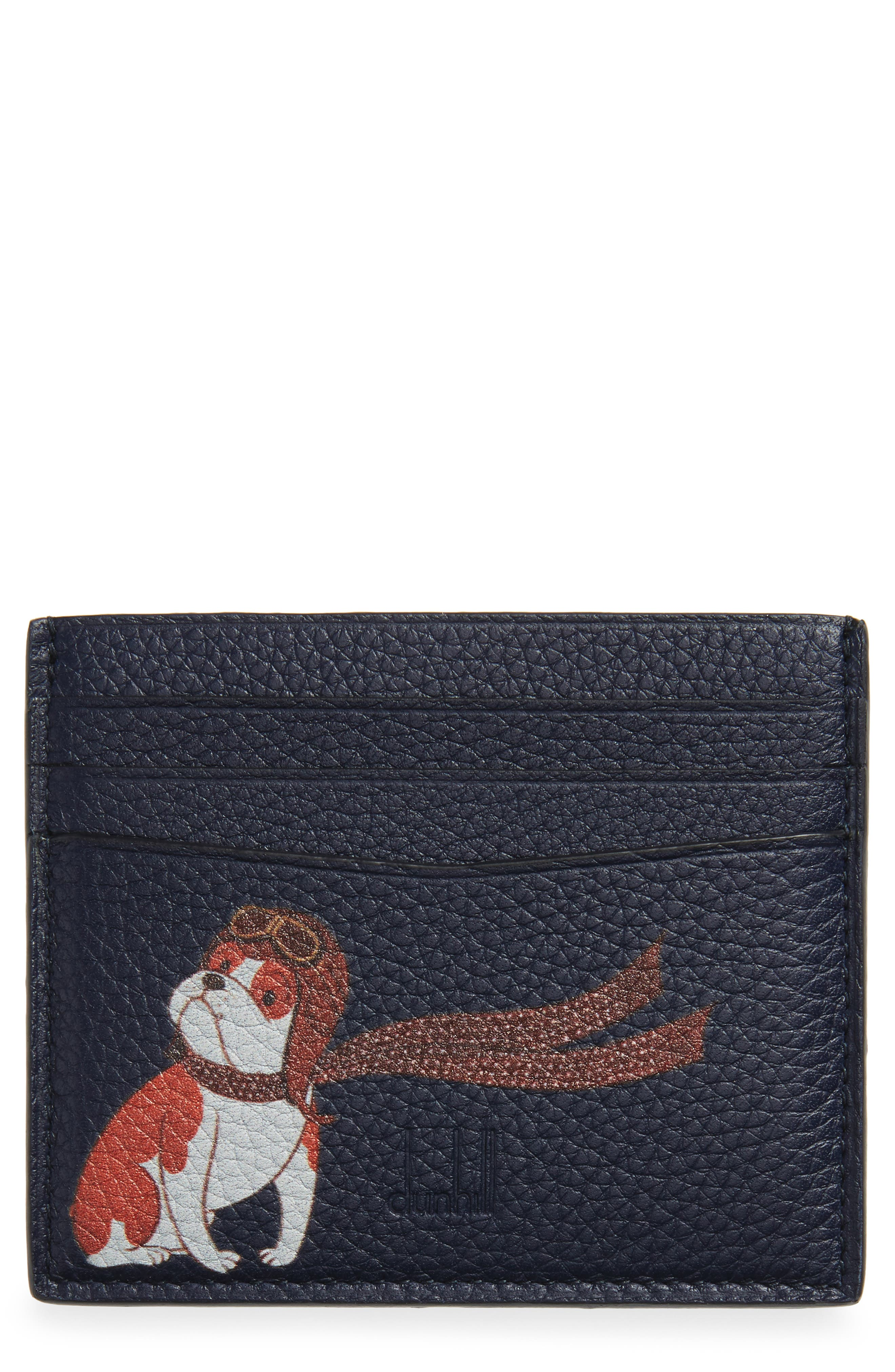 Boston Bulldog Leather Card Case,                             Main thumbnail 1, color,                             400