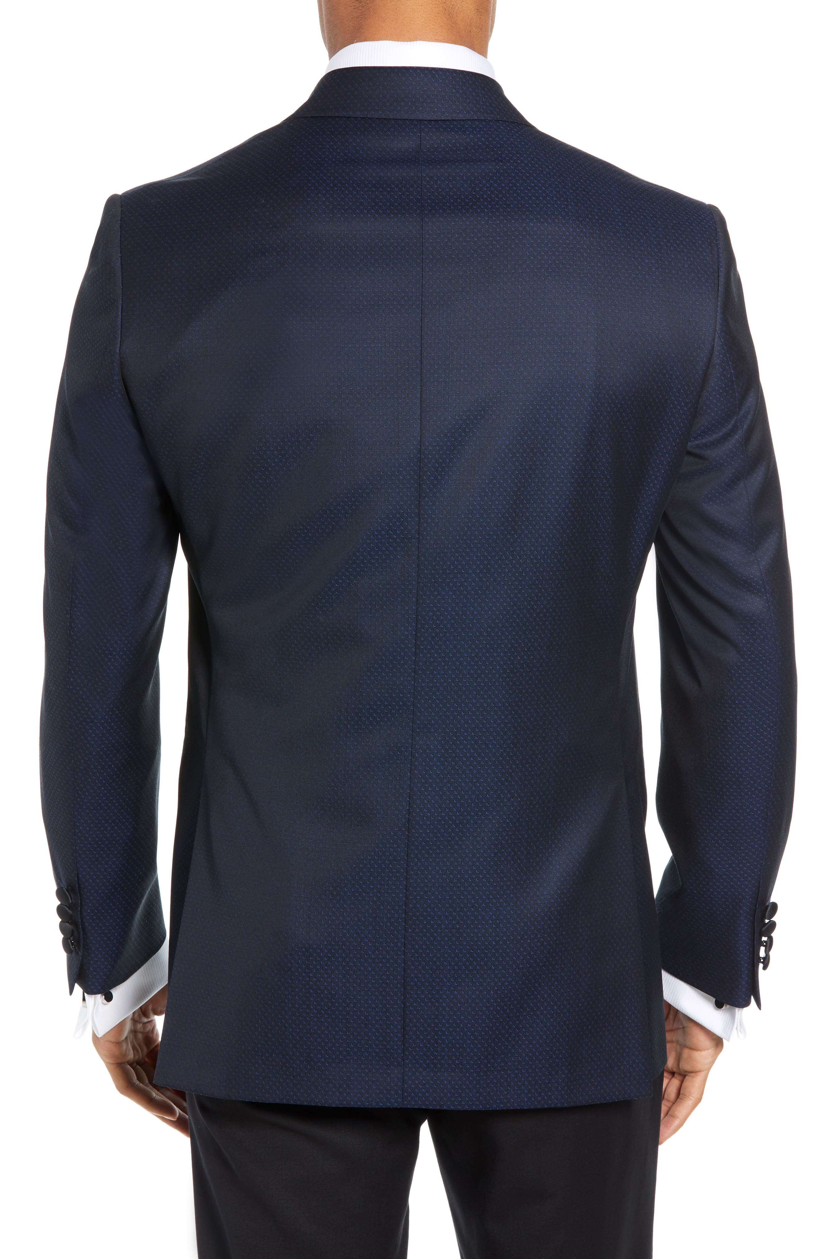 DAVID DONAHUE,                             Russell Classic Fit Wool Dinner Jacket,                             Alternate thumbnail 2, color,                             NAVY