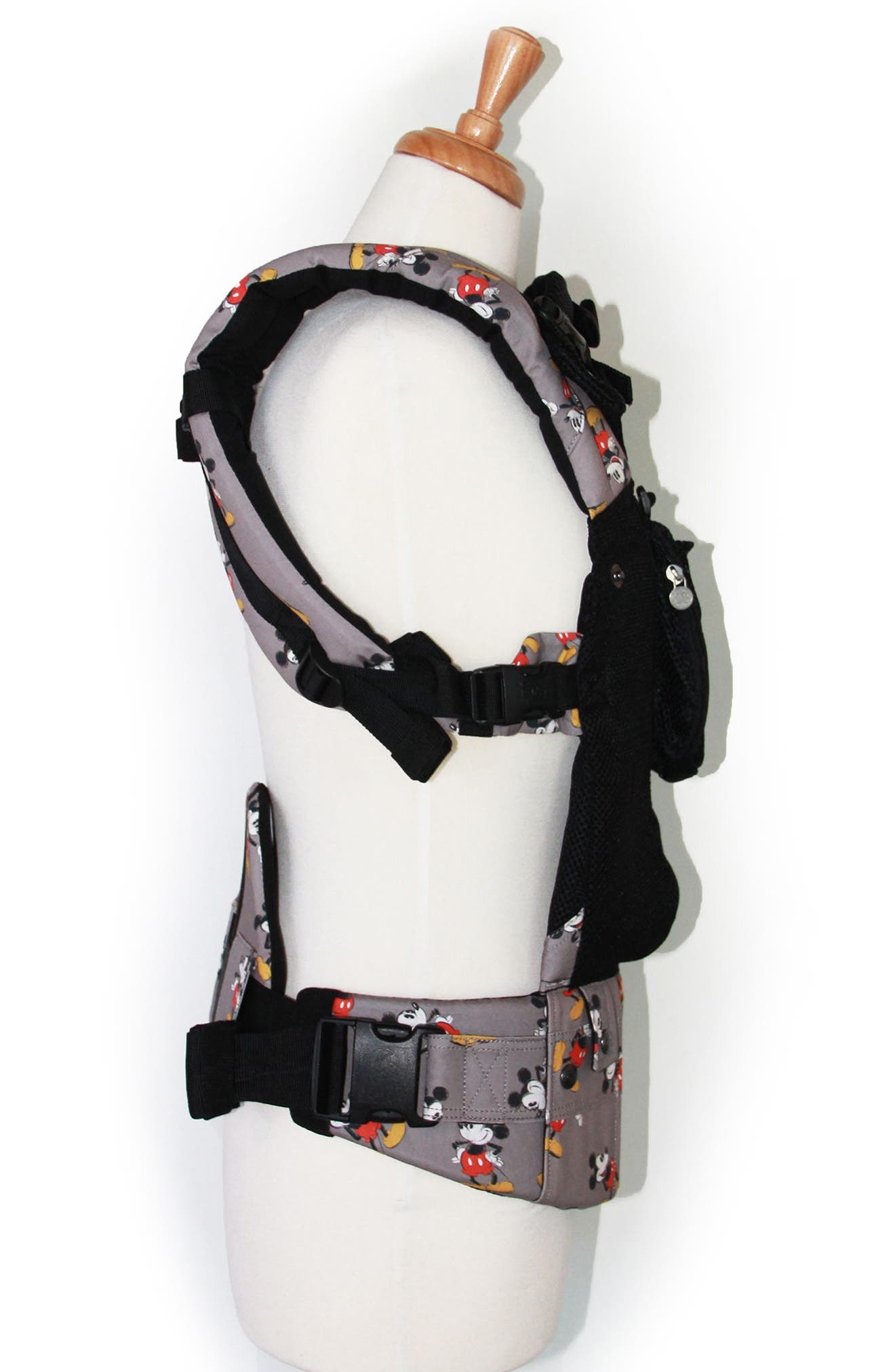 x Disney<sup>®</sup> Complete Airflow - Mickey Mouse Classic Baby Carrier,                             Alternate thumbnail 3, color,                             BLACK