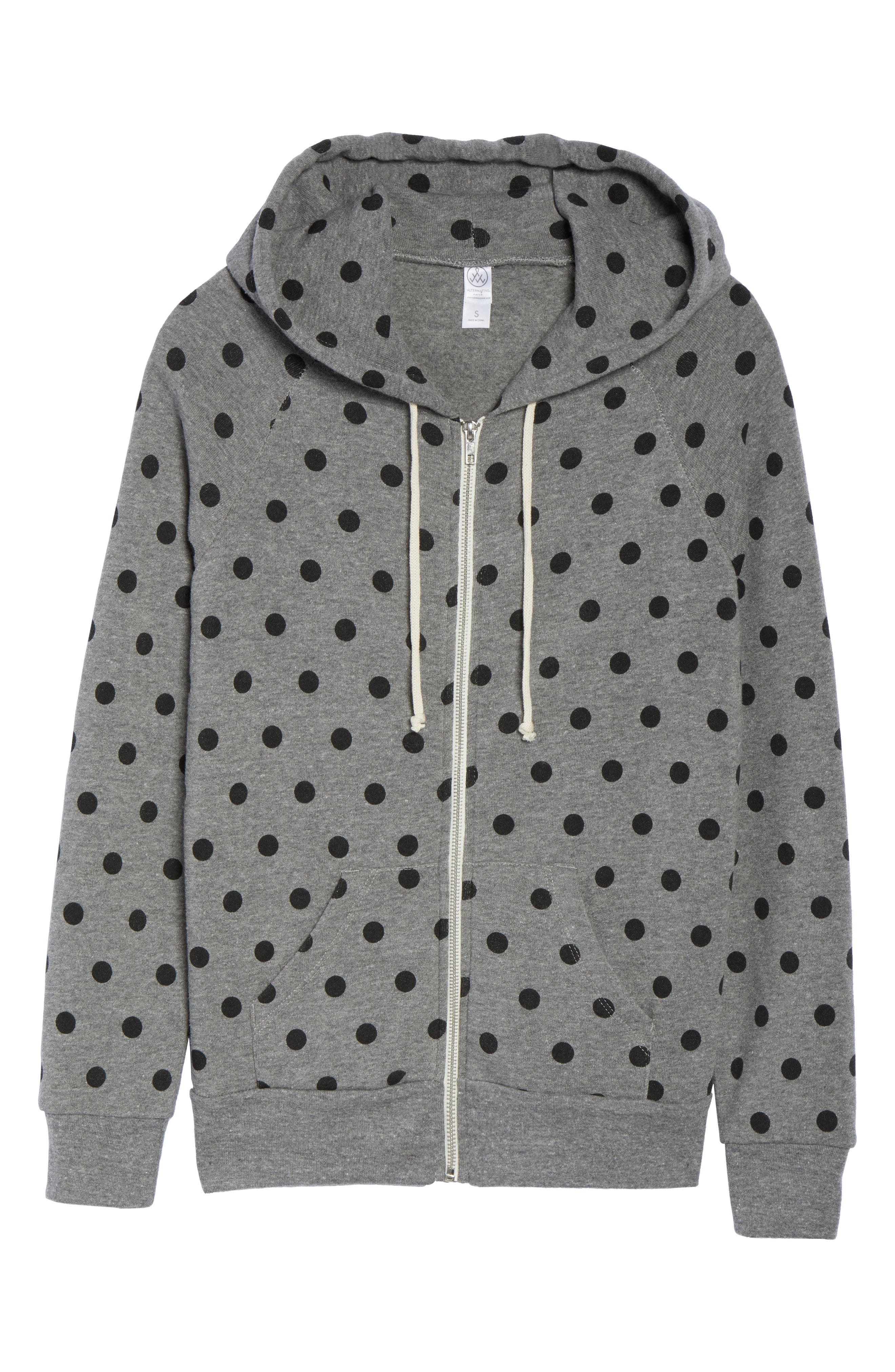 ALTERNATIVE,                             Adrian Print Zip Hoodie,                             Alternate thumbnail 6, color,                             020