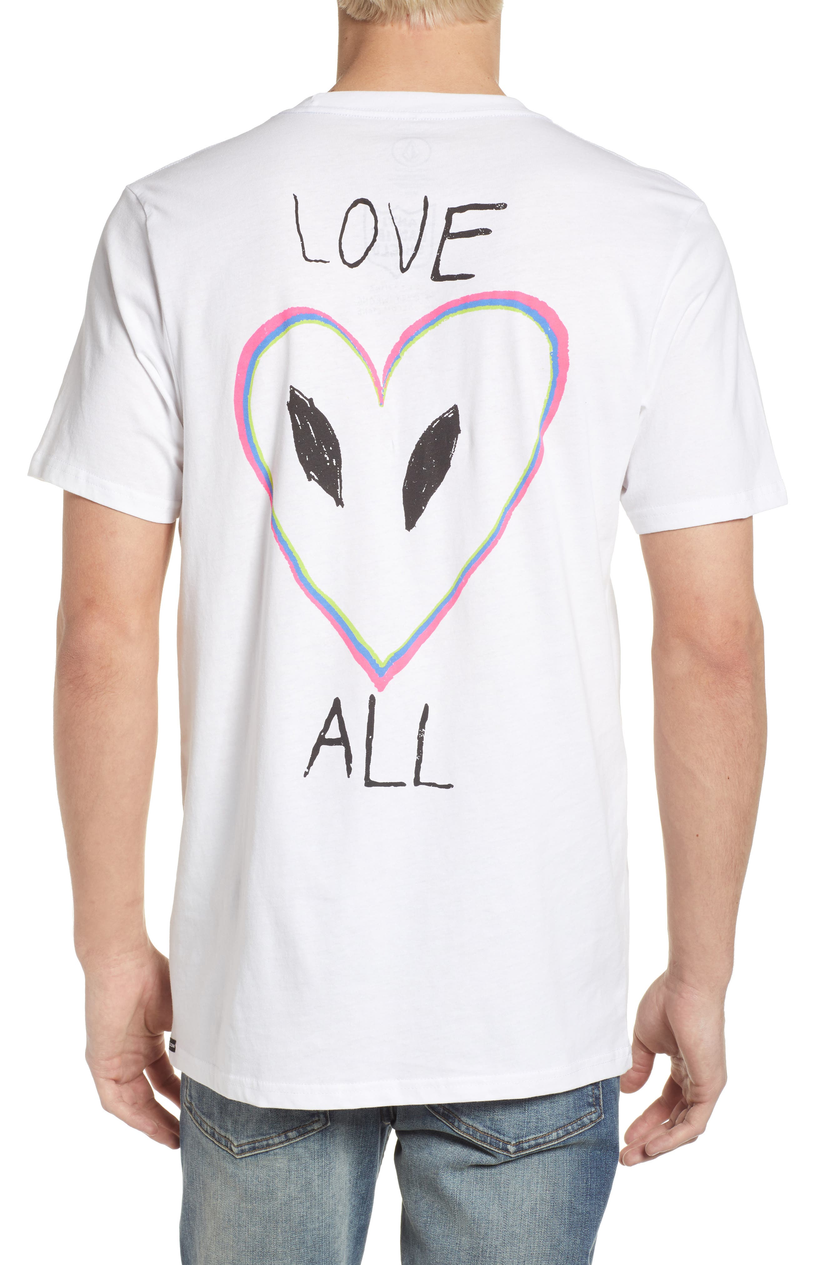 Love Graphic T-Shirt,                             Alternate thumbnail 4, color,