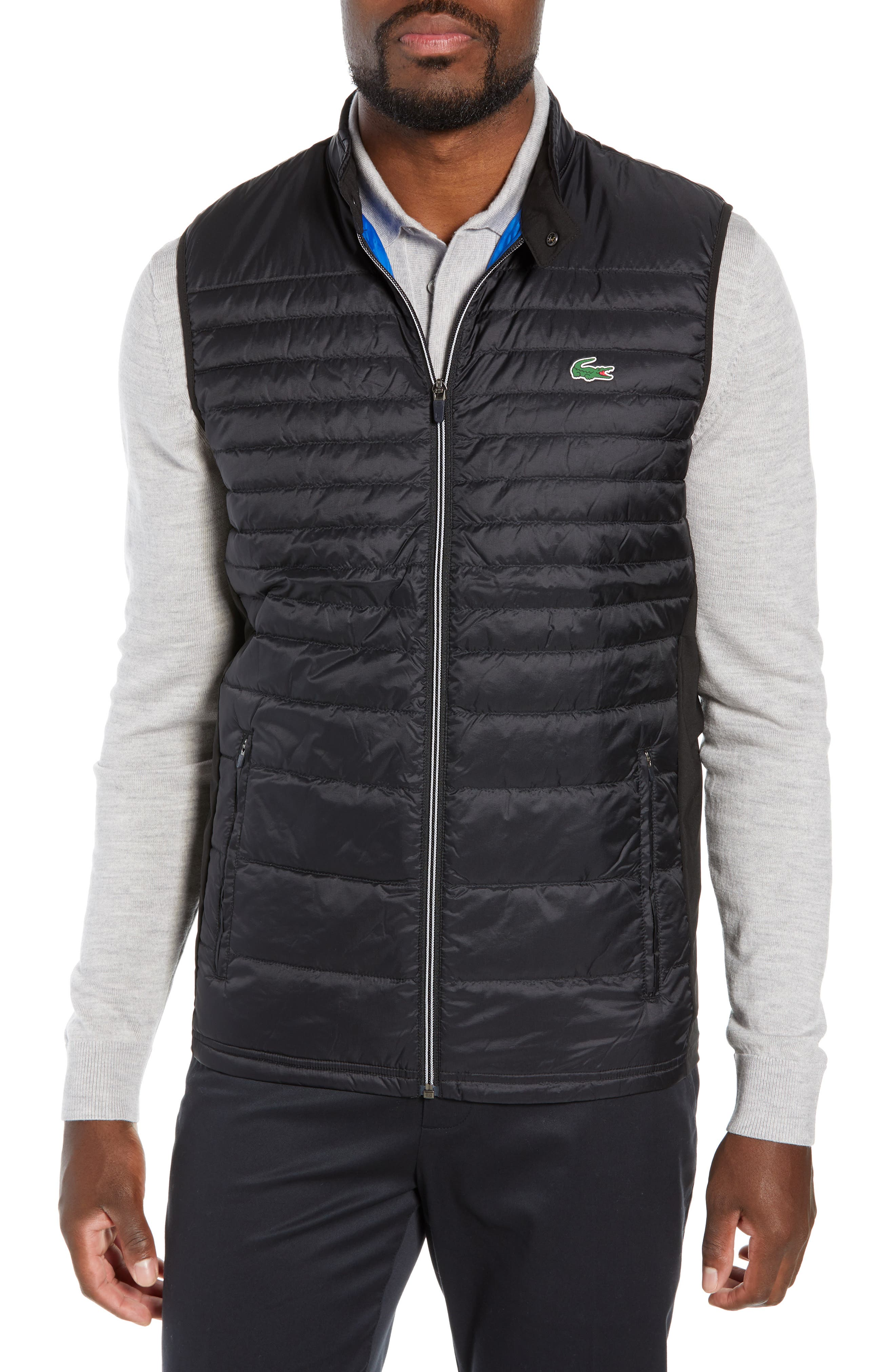 Sport Water Resistant Quilted Down Golf Vest,                             Main thumbnail 1, color,                             010