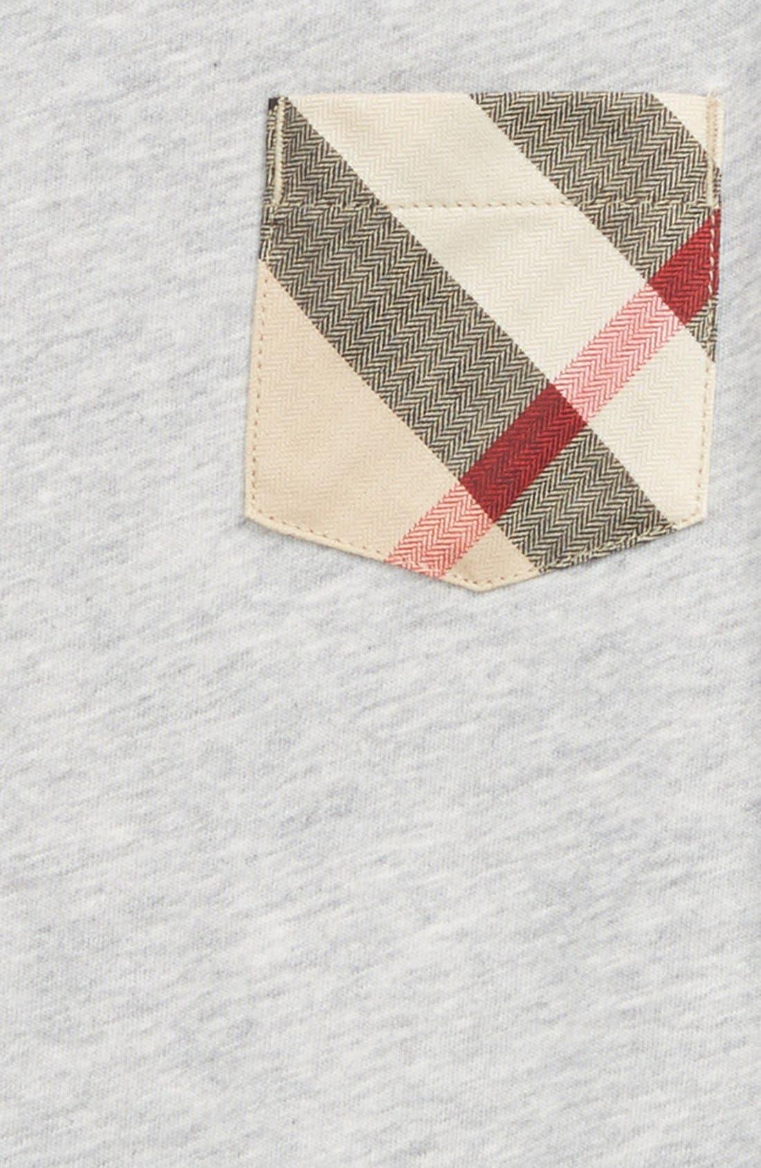 'Callum' Check Print Chest Pocket T-Shirt,                             Alternate thumbnail 3, color,                             035