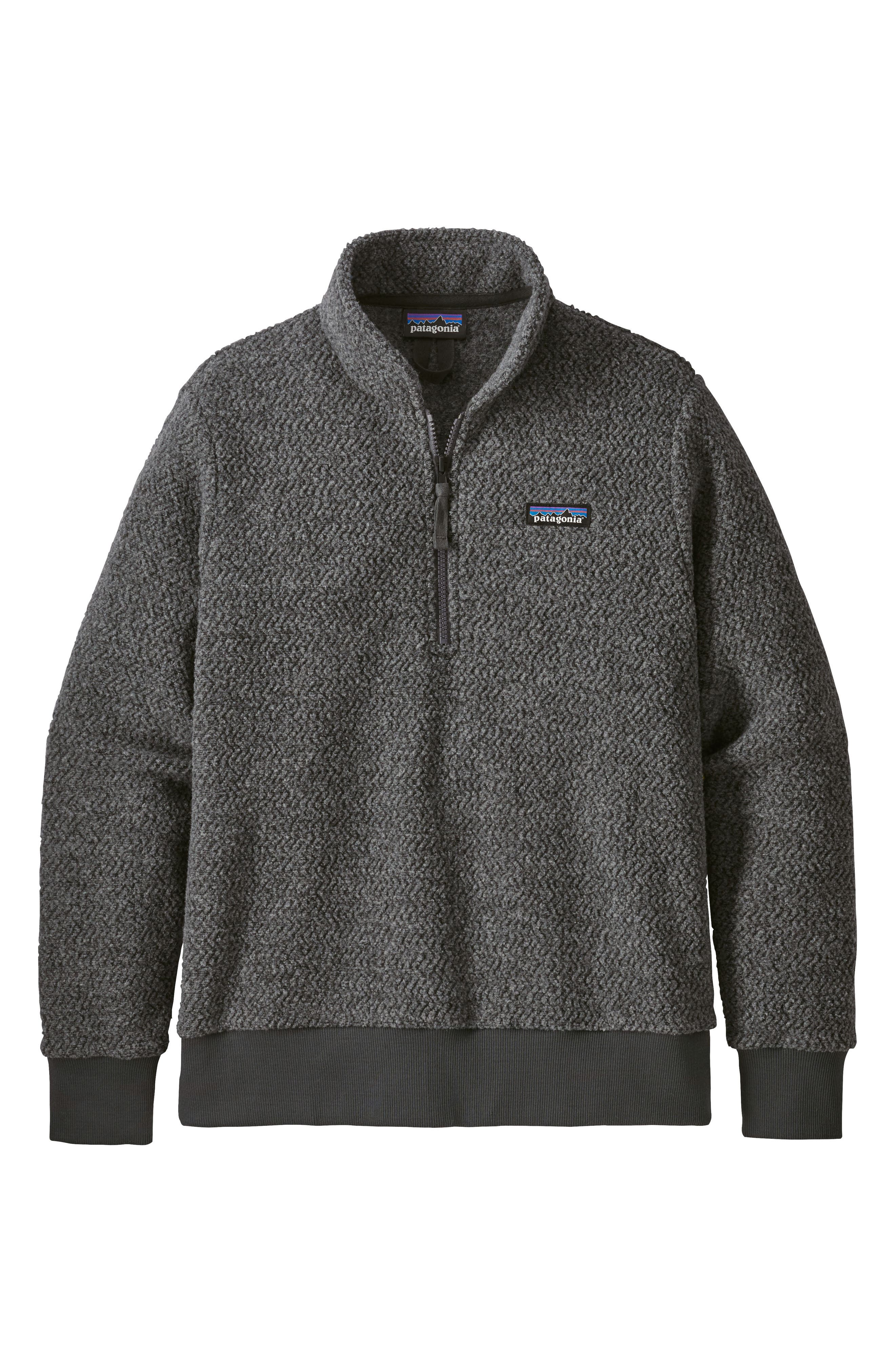 Woolyester Fleece Quarter Zip Pullover,                         Main,                         color, FORGE GREY