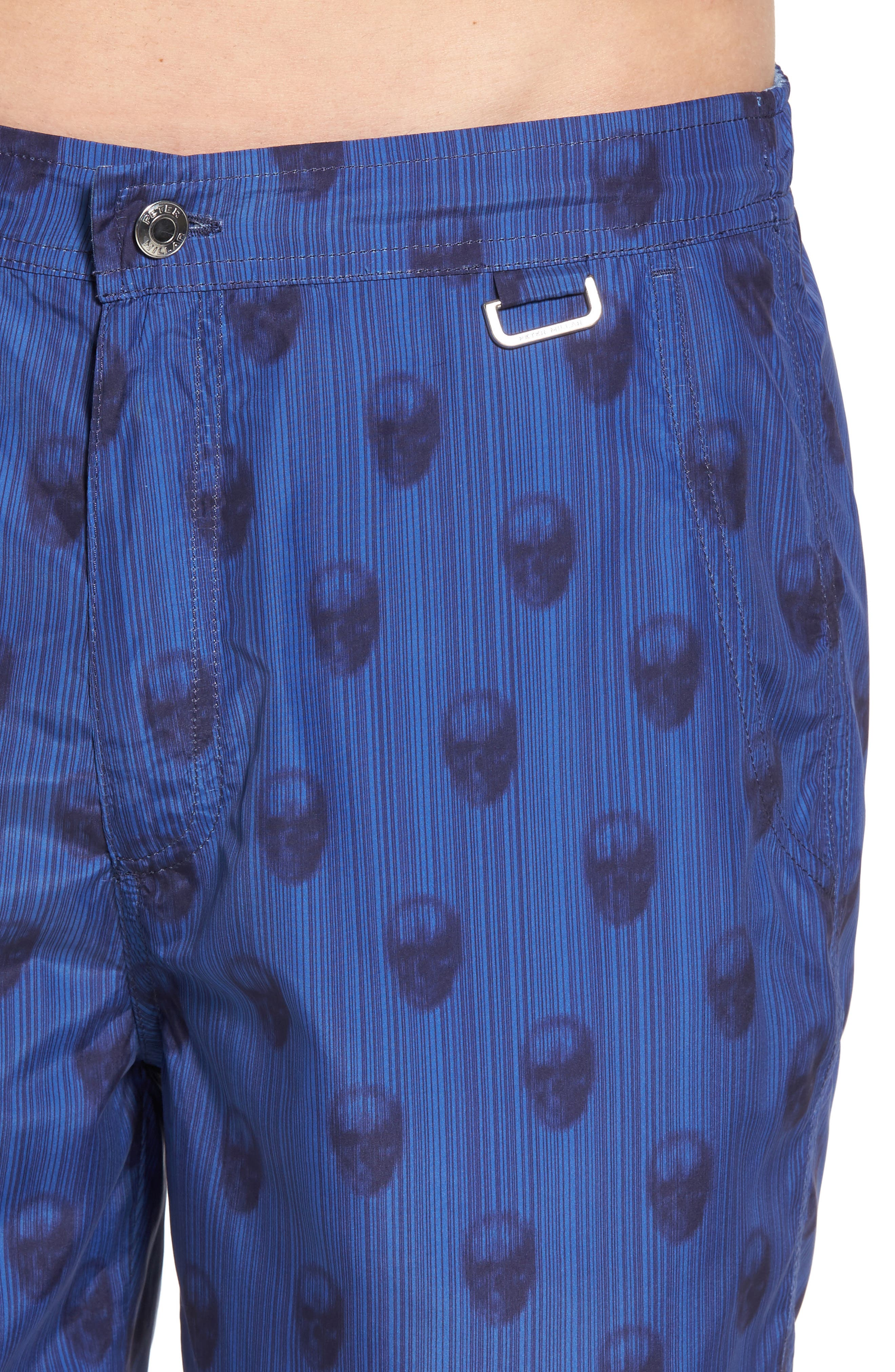 Peter Millar Black Jack's Bay Swim Trunks,                             Alternate thumbnail 4, color,                             440