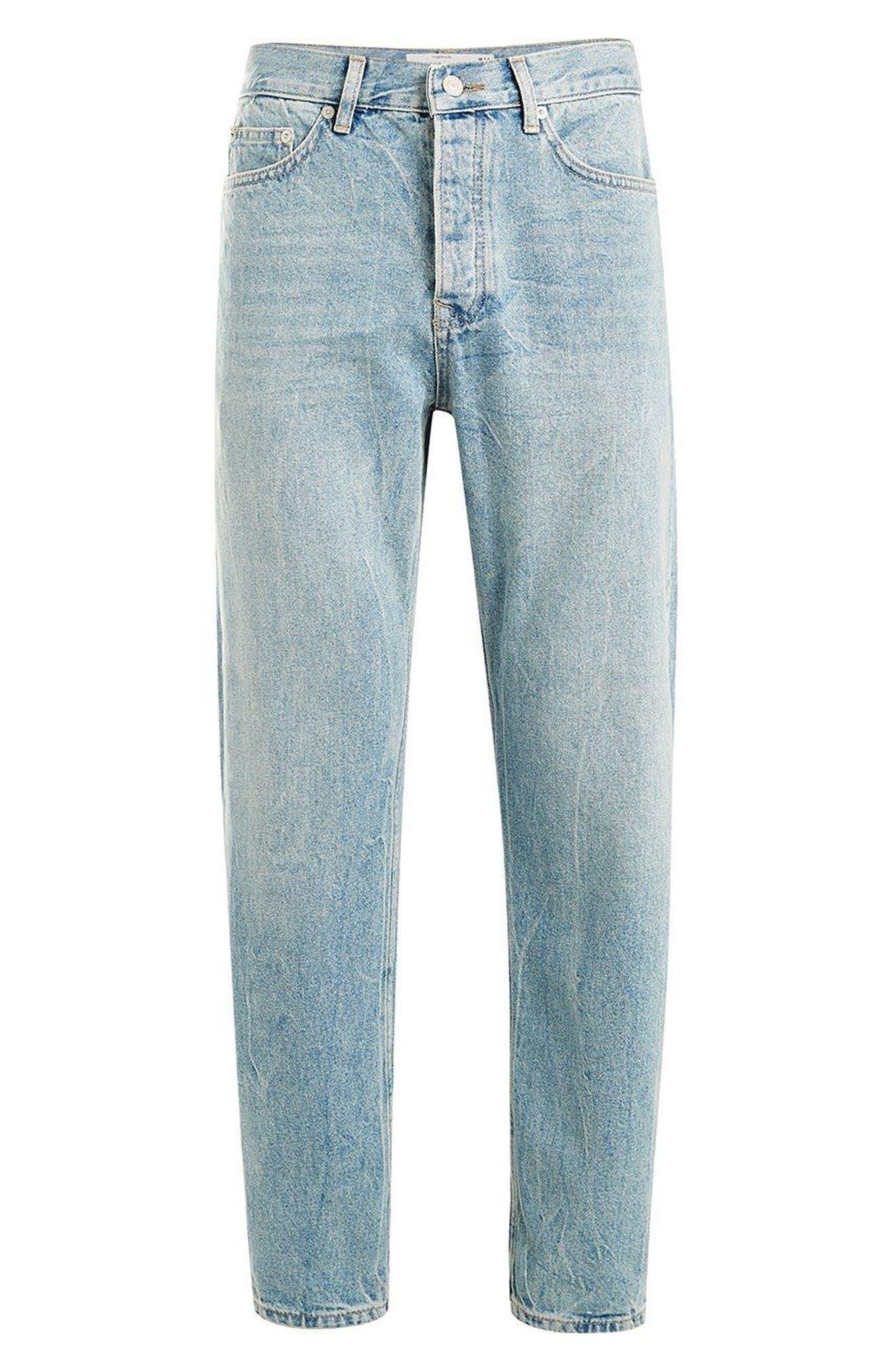 Original Fit Straight Leg Jeans,                             Alternate thumbnail 3, color,                             400