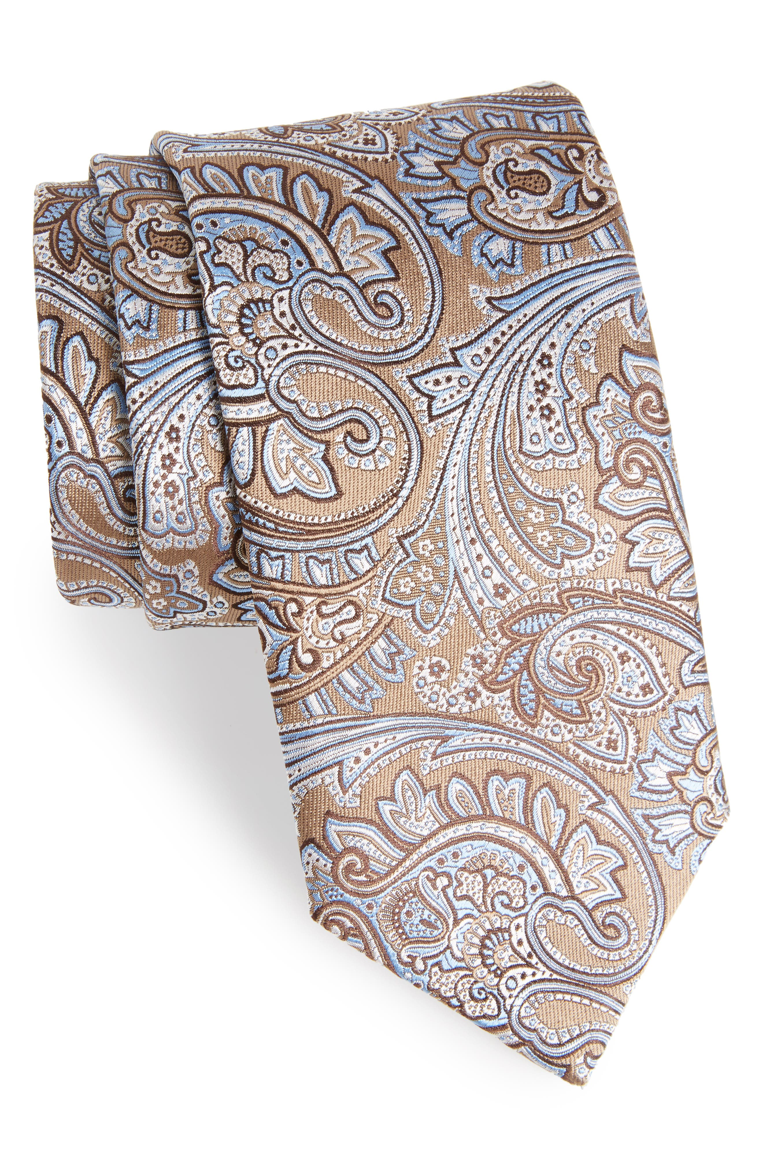 Paisley Silk Tie,                             Main thumbnail 1, color,                             292