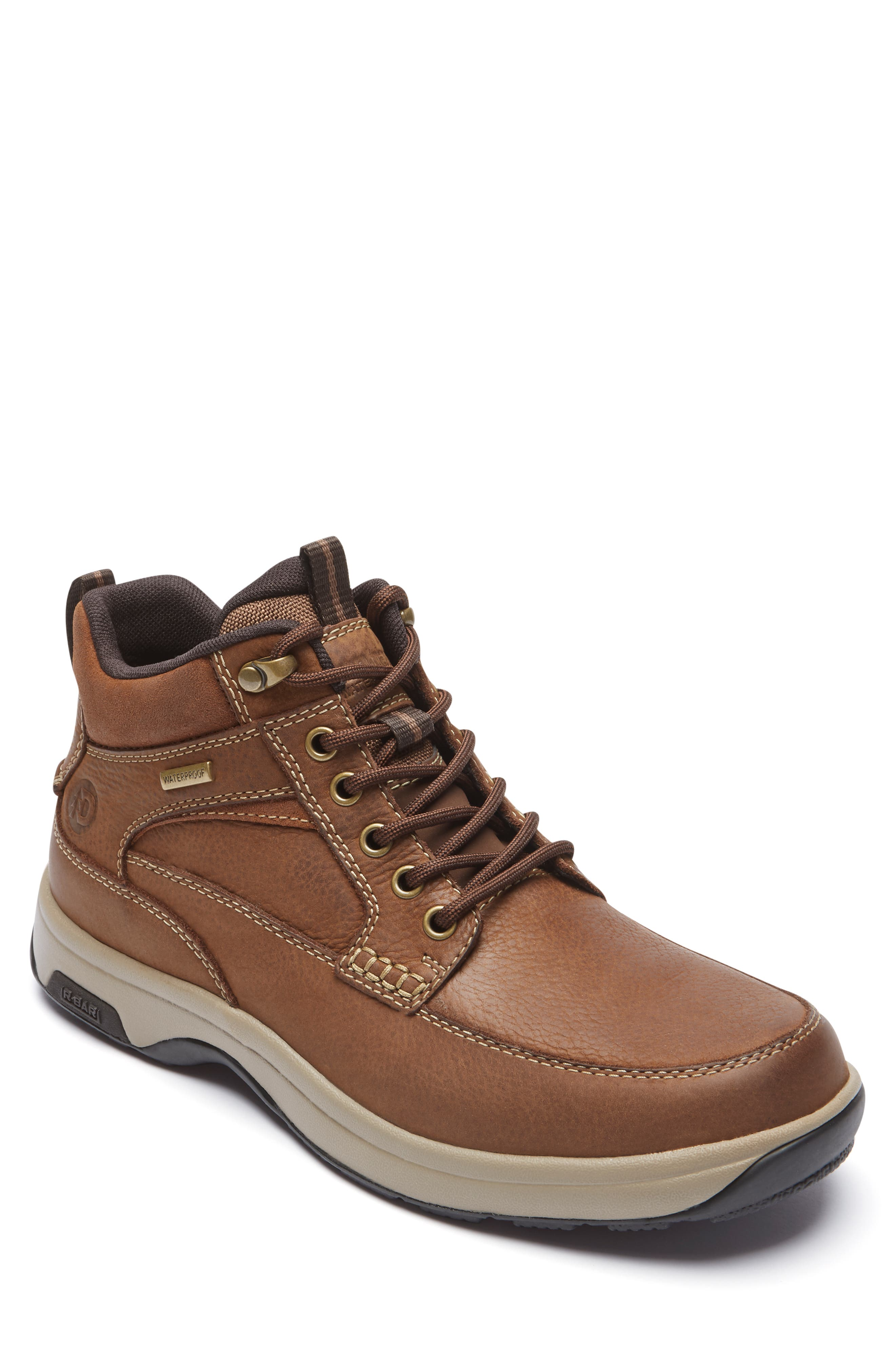 8000 Midland Waterproof Work Boot,                             Main thumbnail 1, color,                             TAN LEATHER