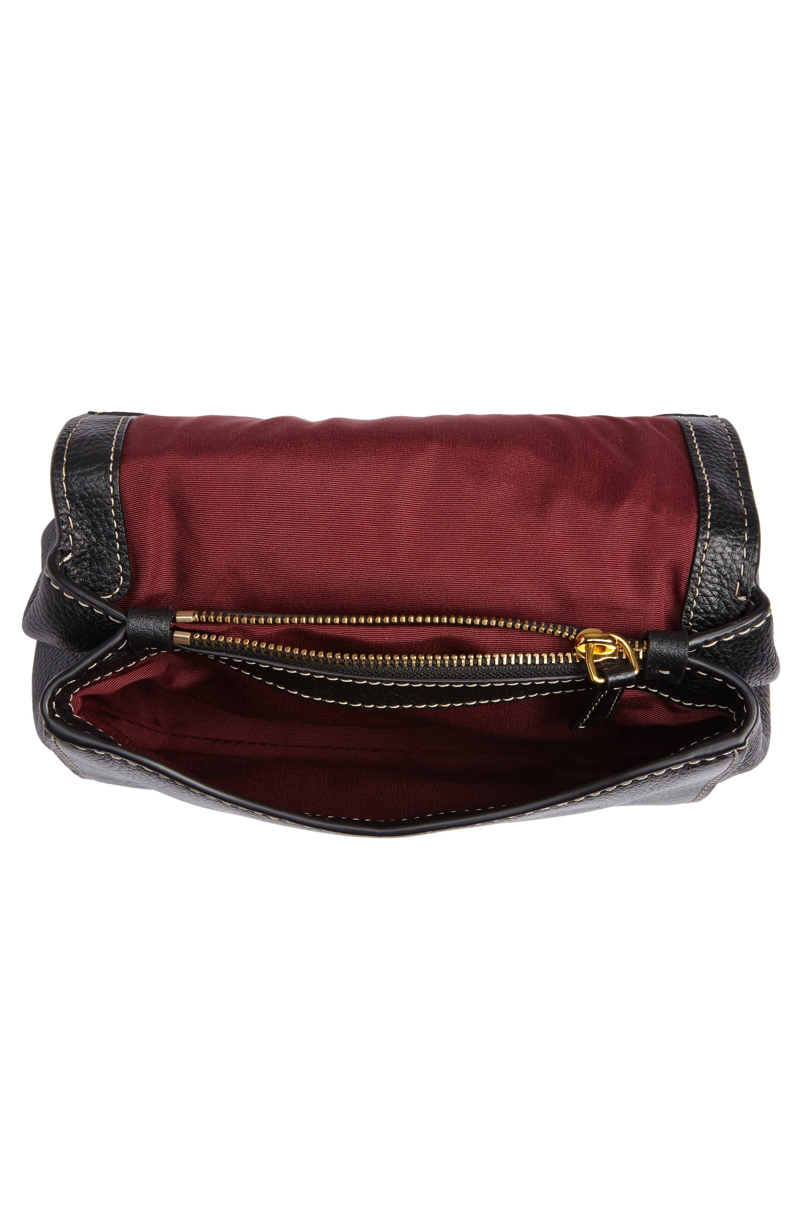 Mini The Boho Grind Leather Shoulder Bag,                             Alternate thumbnail 4, color,                             014