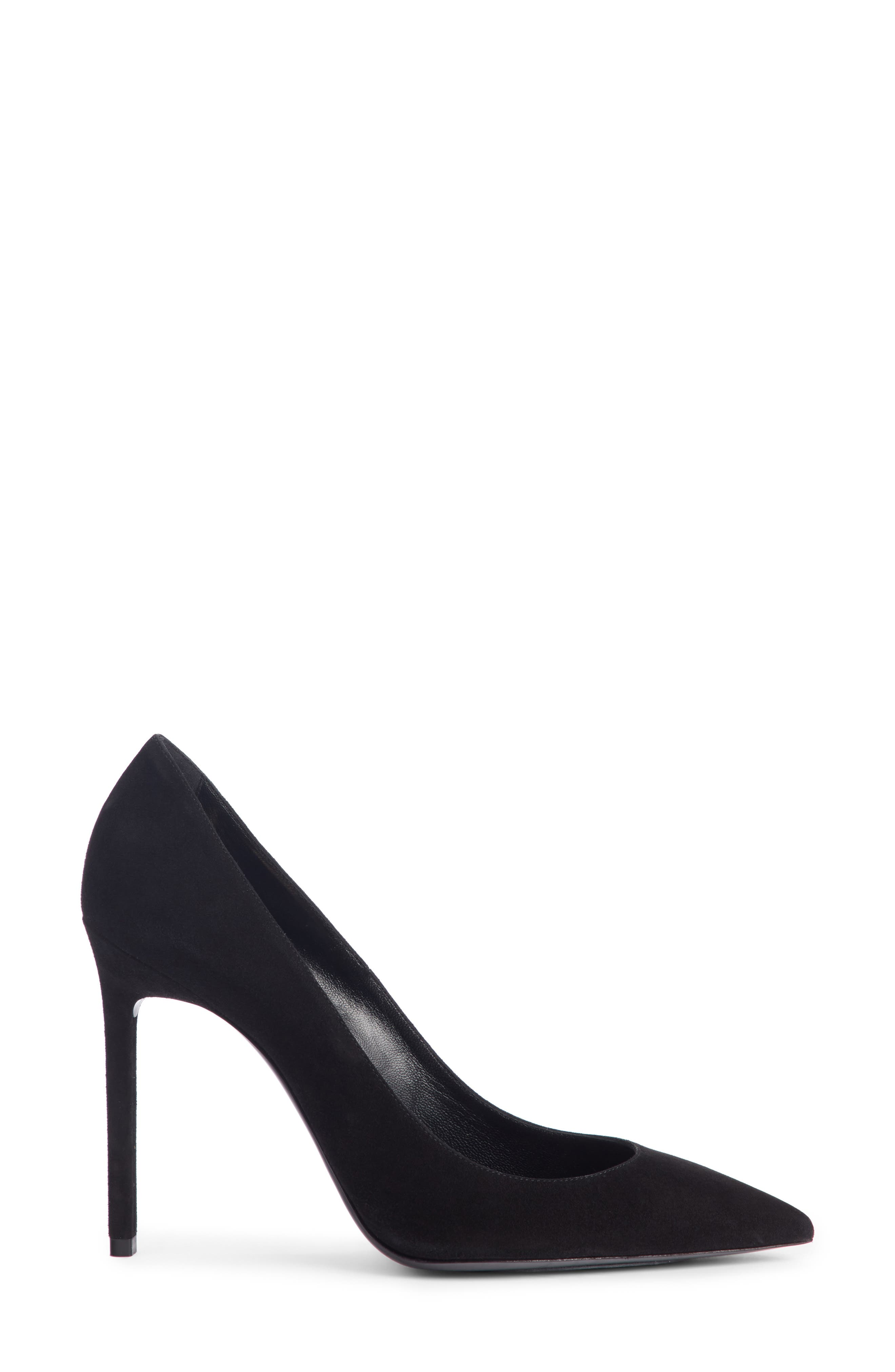 Zoe Pump,                             Alternate thumbnail 3, color,                             BLACK SUEDE