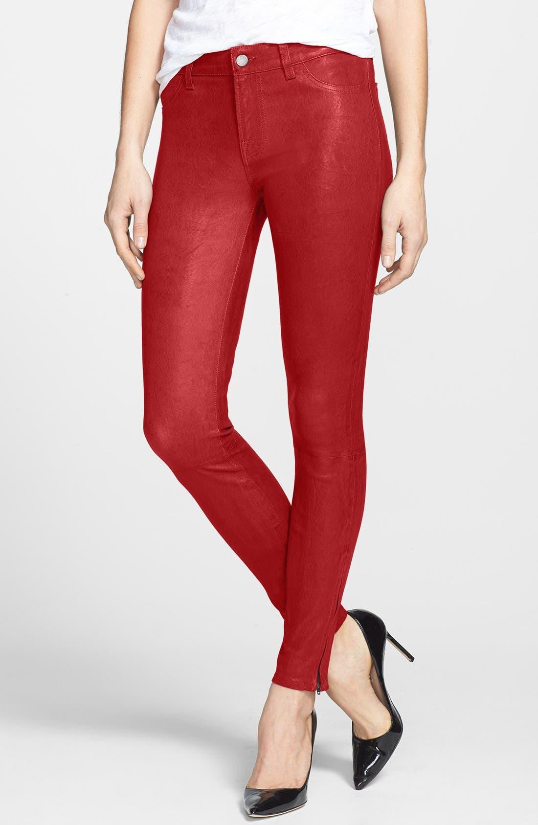 '8001' Lambskin Leather Pants,                             Main thumbnail 21, color,