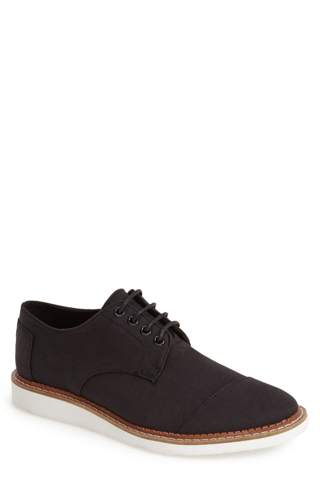 'Classic Brogue' Cotton Twill Derby,                             Main thumbnail 1, color,                             001