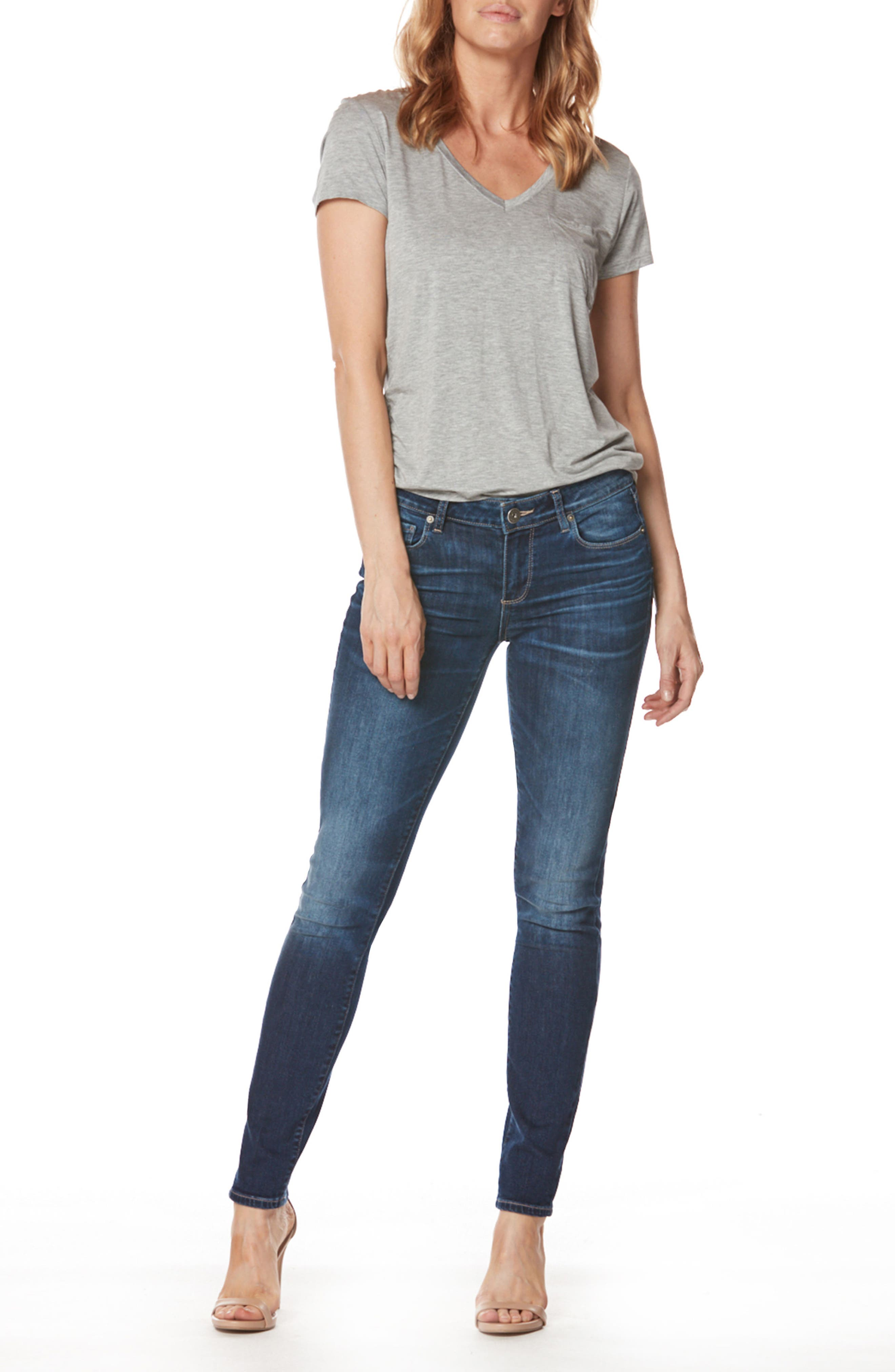 Transcend - Verdugo Ultra Skinny Jeans,                             Alternate thumbnail 3, color,                             400