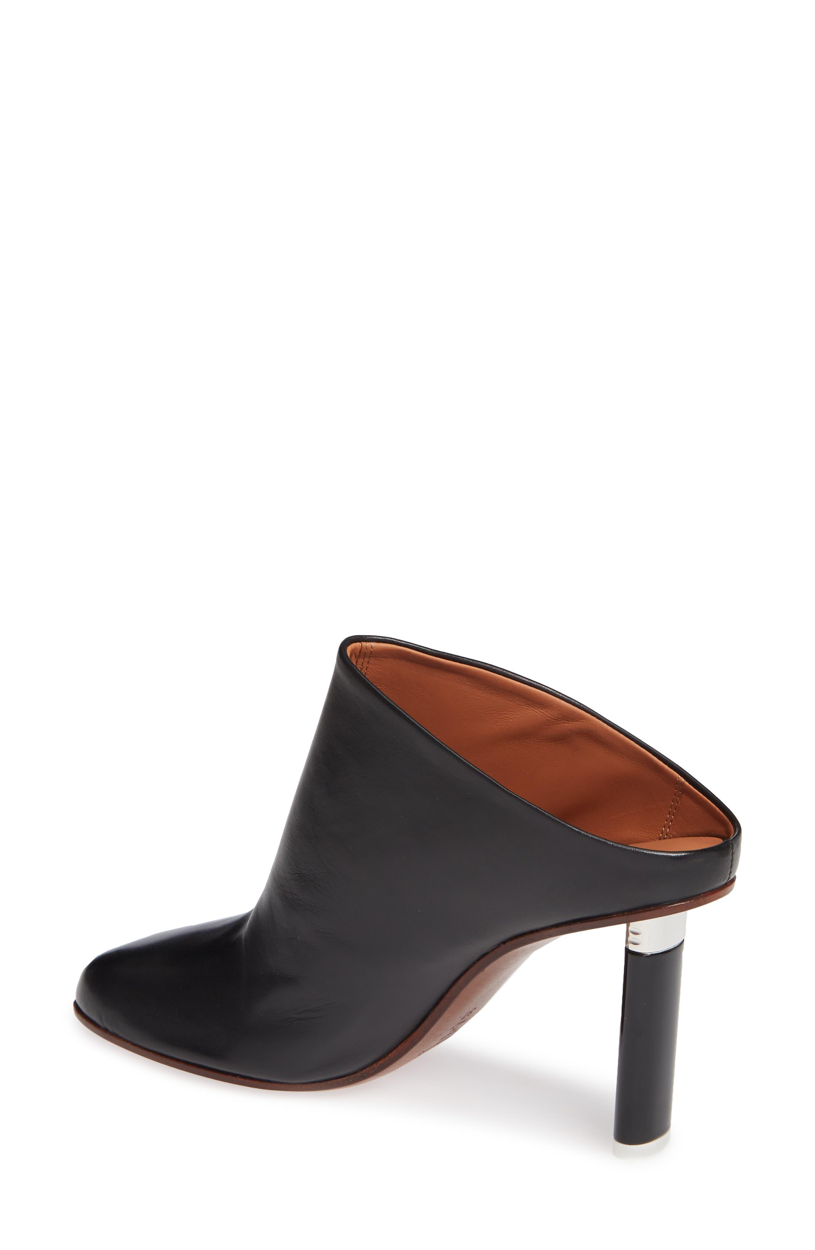 Lighter Heel Mule,                             Alternate thumbnail 2, color,                             BLACK/ BLACK HEEL