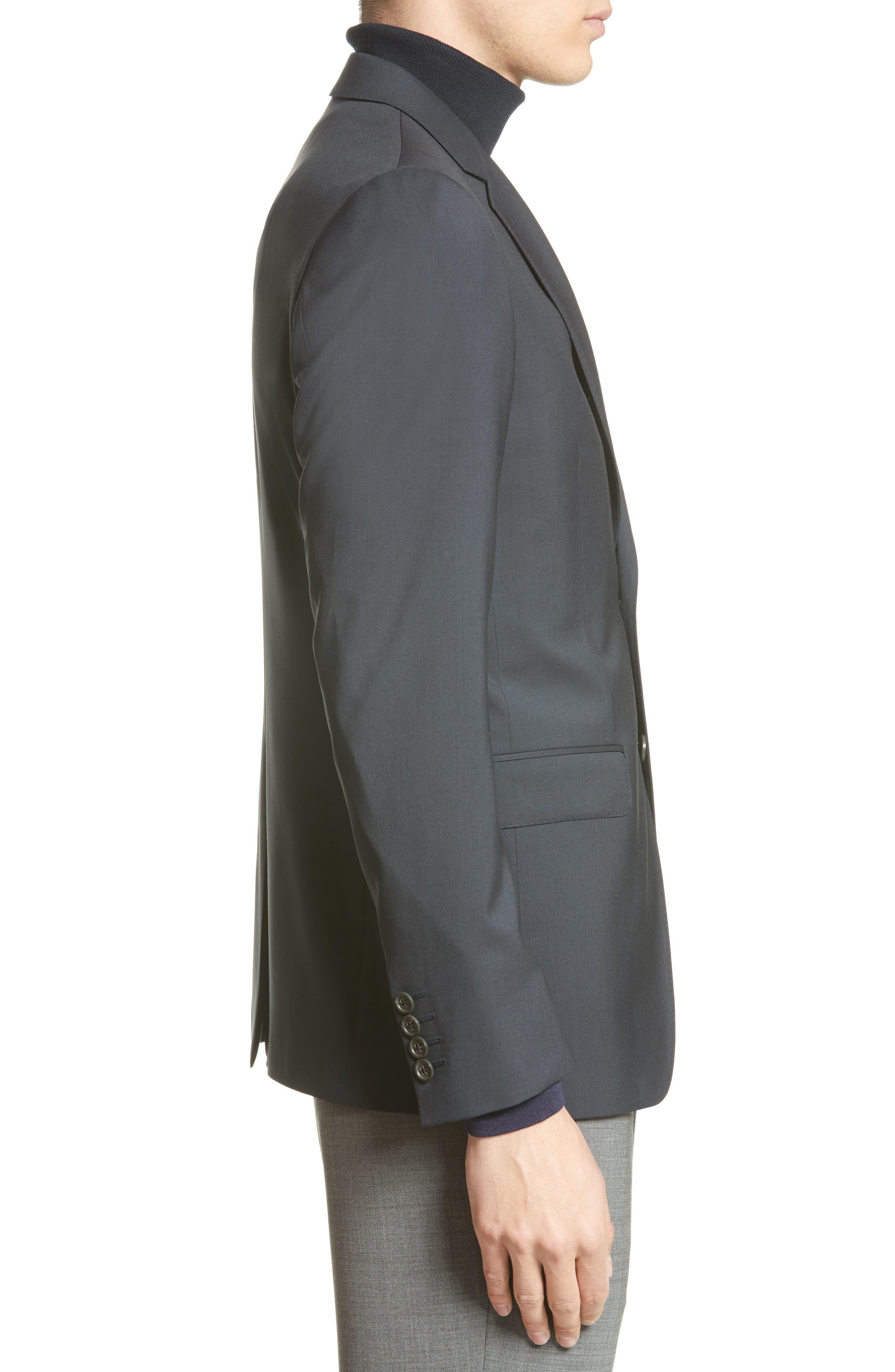 Tropical Wool Suit Jacket,                             Alternate thumbnail 4, color,                             NAVY