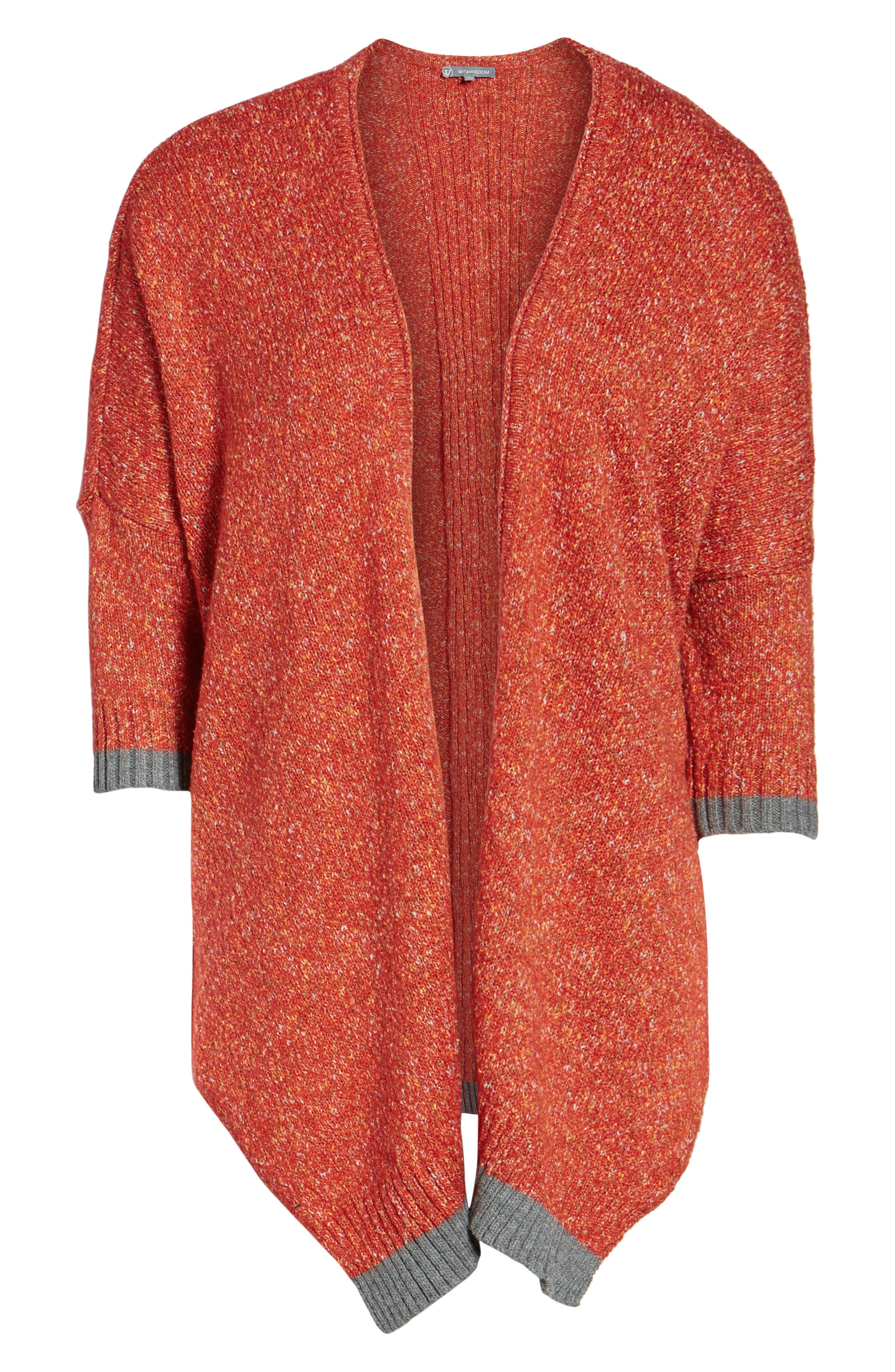 Open Front Knit Cardigan,                             Alternate thumbnail 6, color,                             805