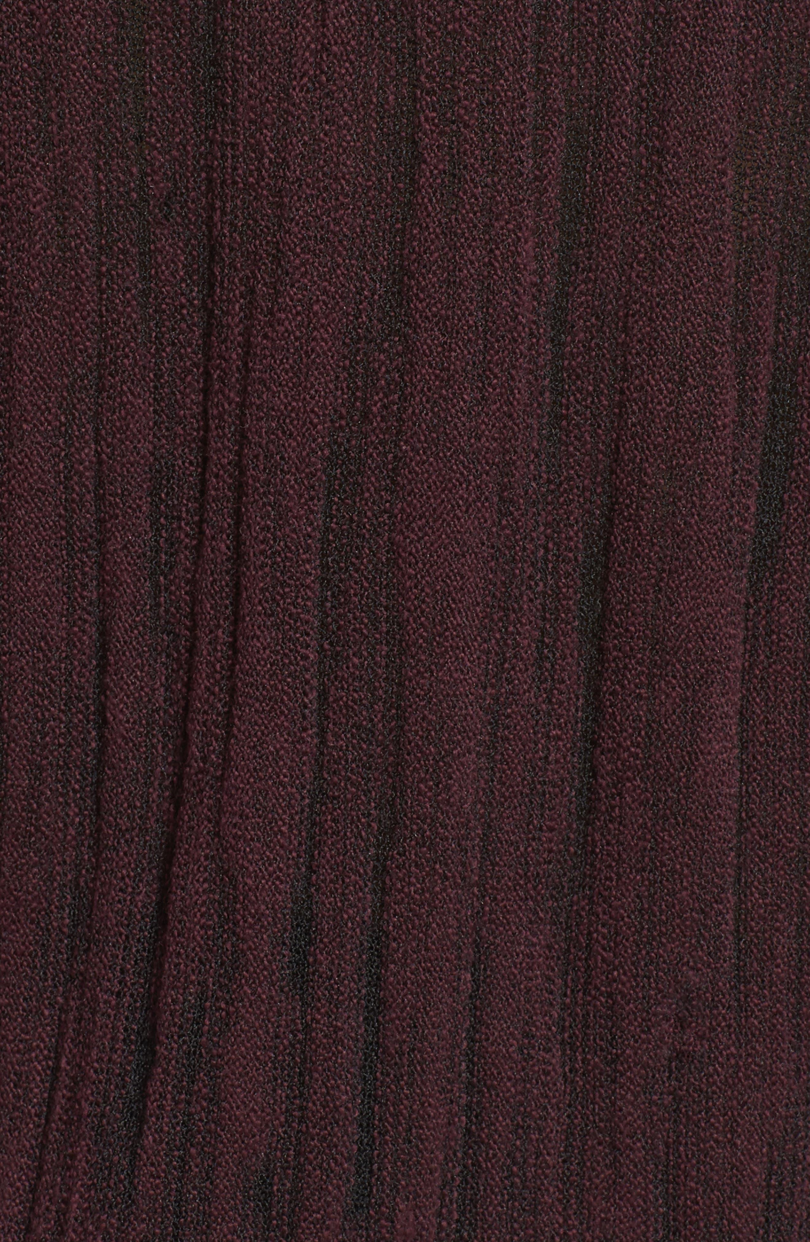 Cowl Neck Open Stitch Sweater,                             Alternate thumbnail 5, color,                             WINE