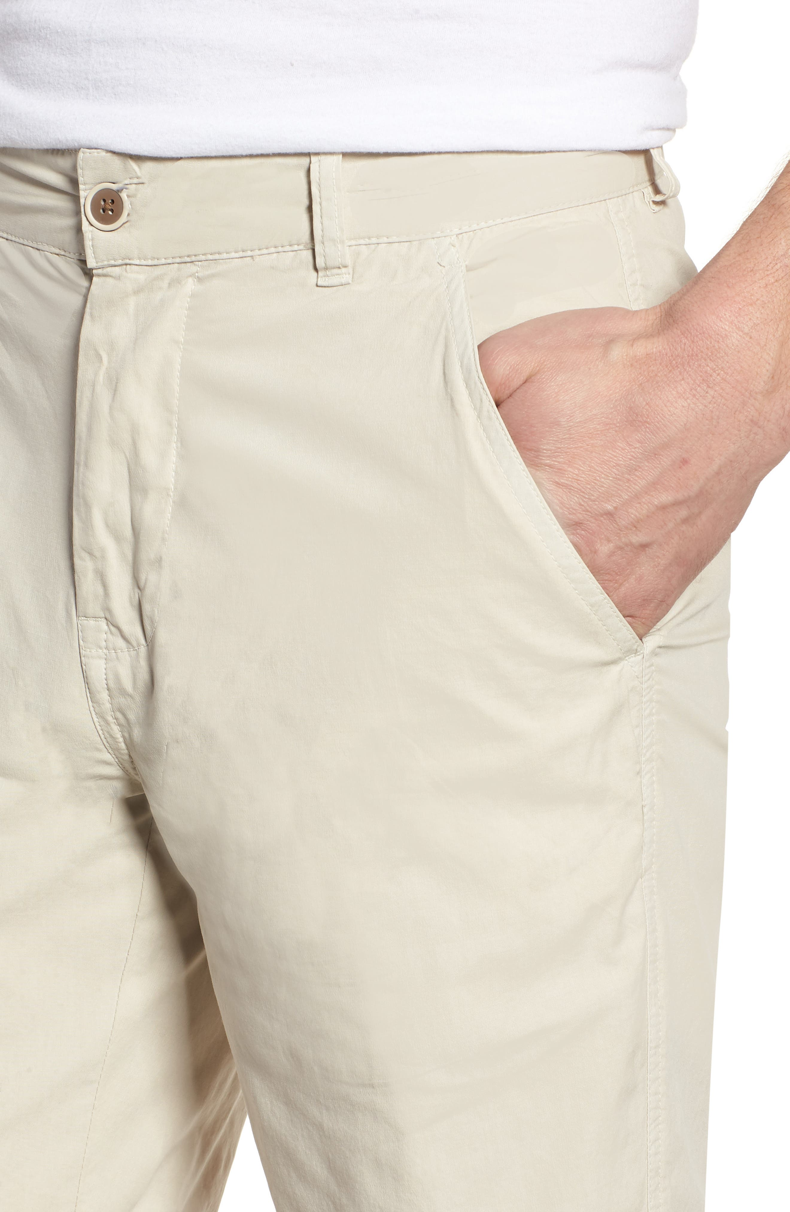 Stretch Poplin Shorts,                             Alternate thumbnail 4, color,                             020